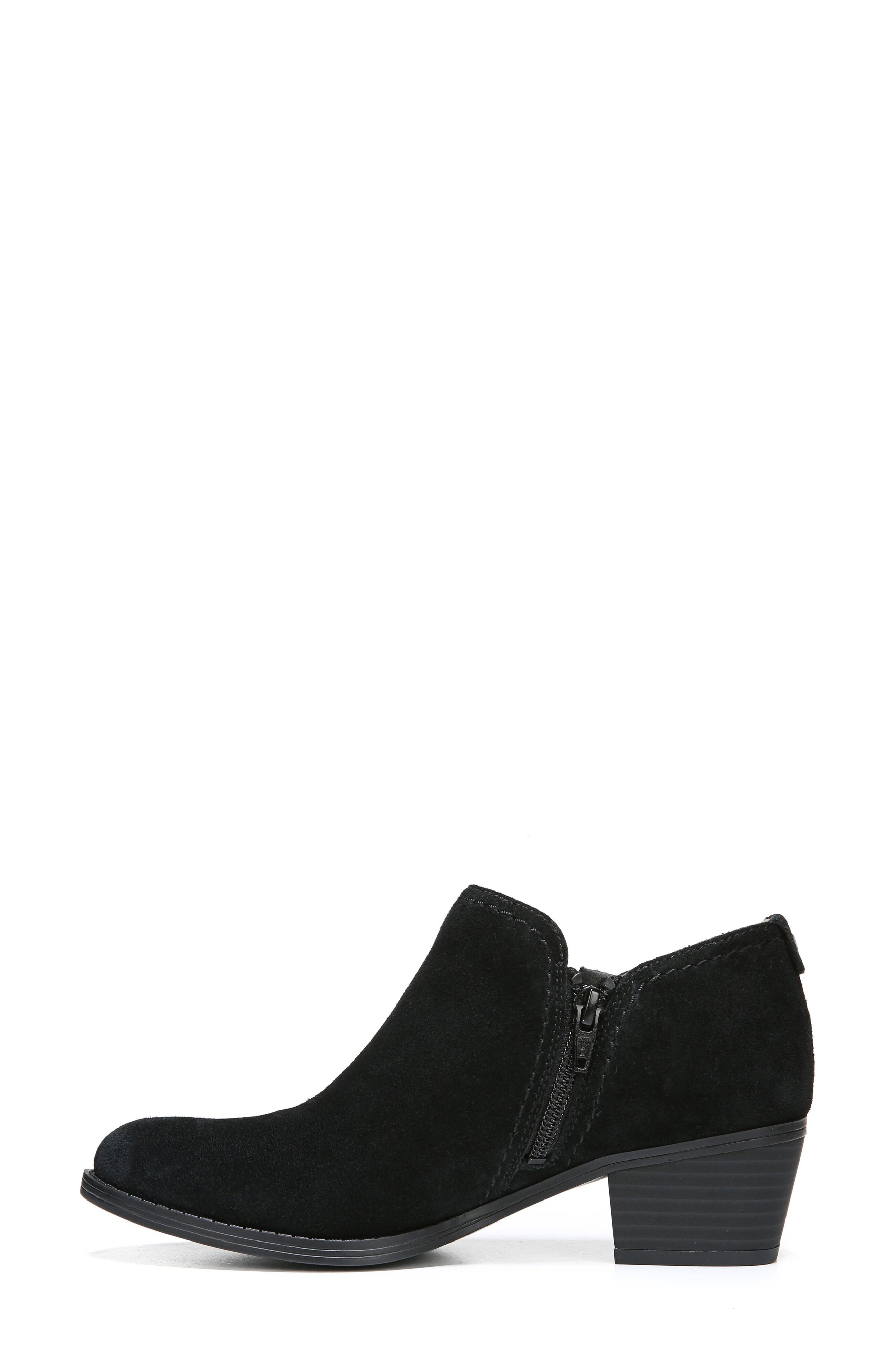 'Zarie' Block Heel Bootie,                             Alternate thumbnail 8, color,                             BLACK SUEDE