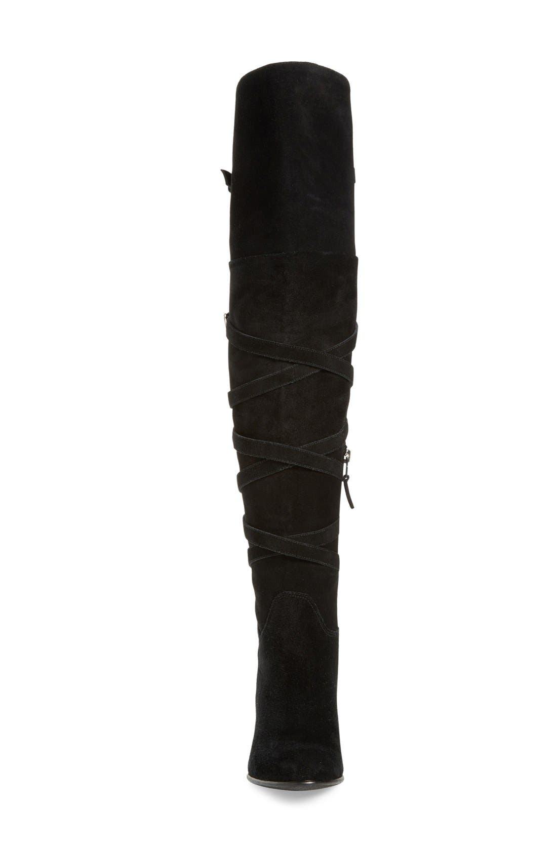 'Sable' Over the Knee Boot,                             Alternate thumbnail 3, color,                             002