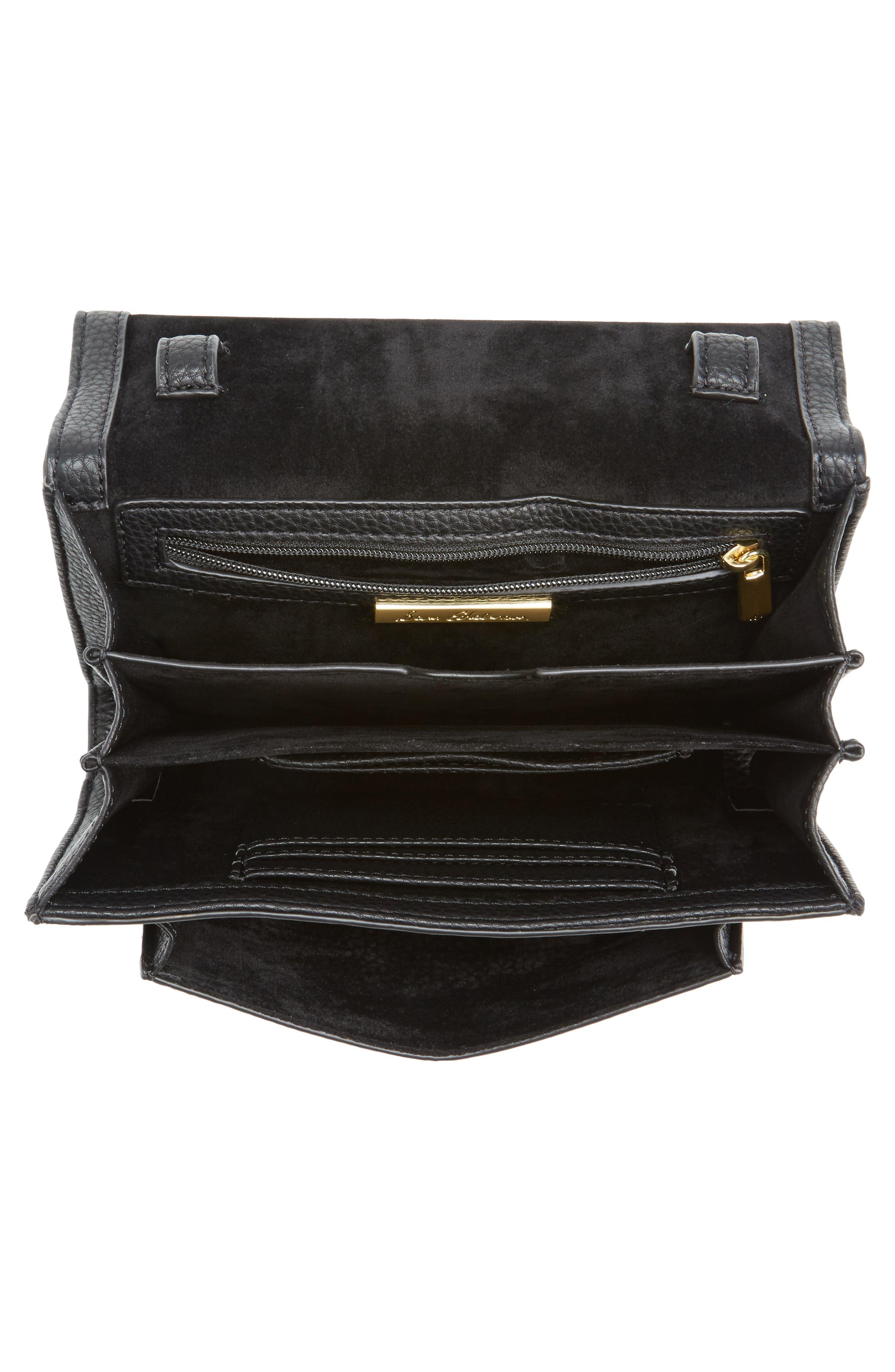 Florence Faux Leather Clutch Wallet,                             Alternate thumbnail 4, color,                             001