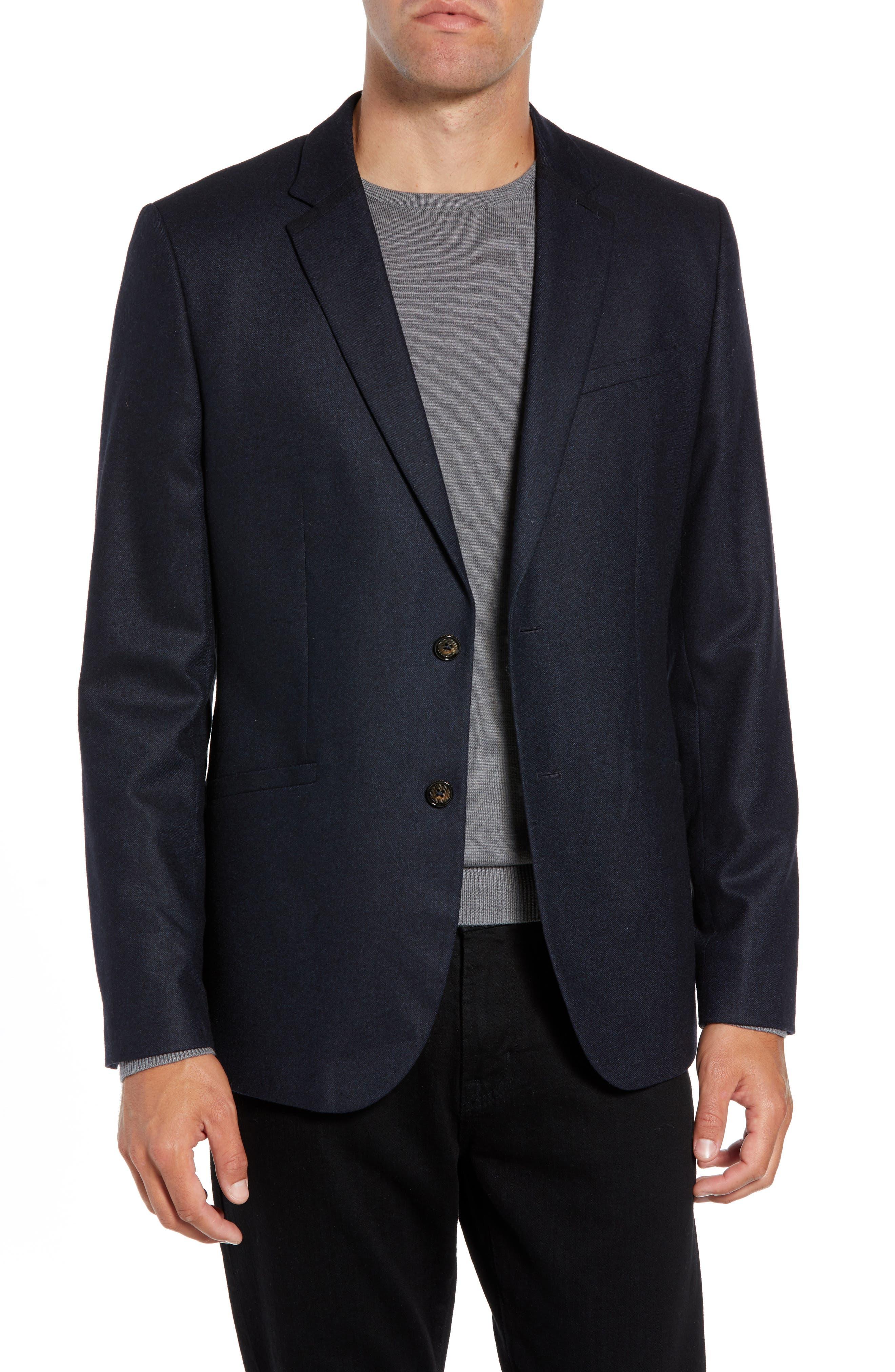 Matza Wool Blend Sport Coat,                         Main,                         color, NAVY