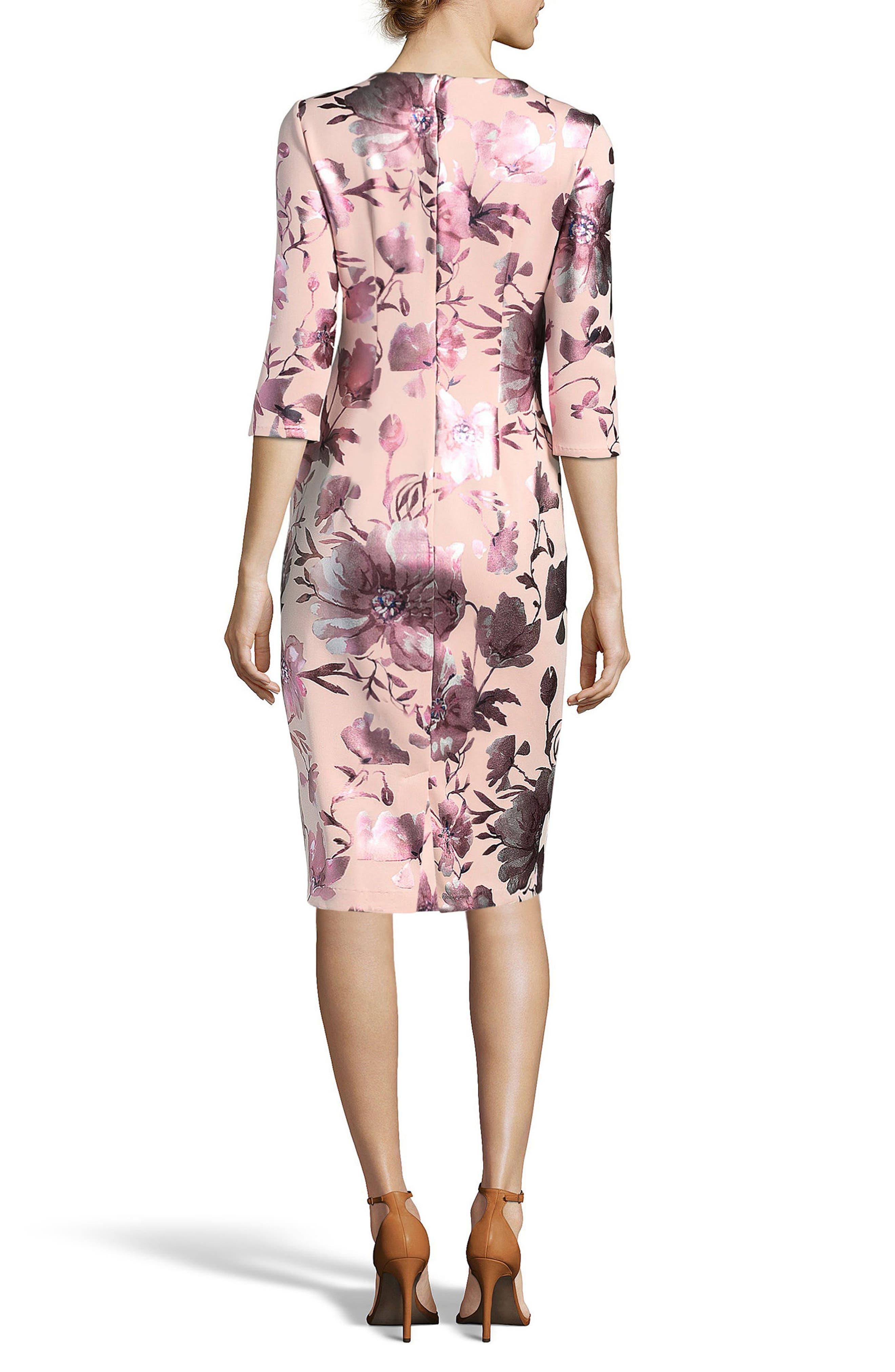 Floral Midi Dress,                             Alternate thumbnail 2, color,                             650