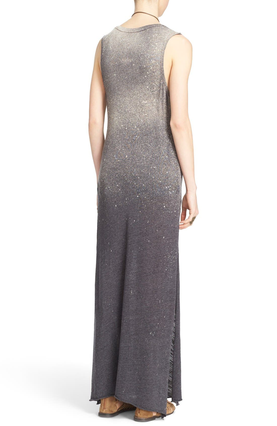 FREE PEOPLE,                             'Galaxy' Maxi Dress,                             Alternate thumbnail 5, color,                             001