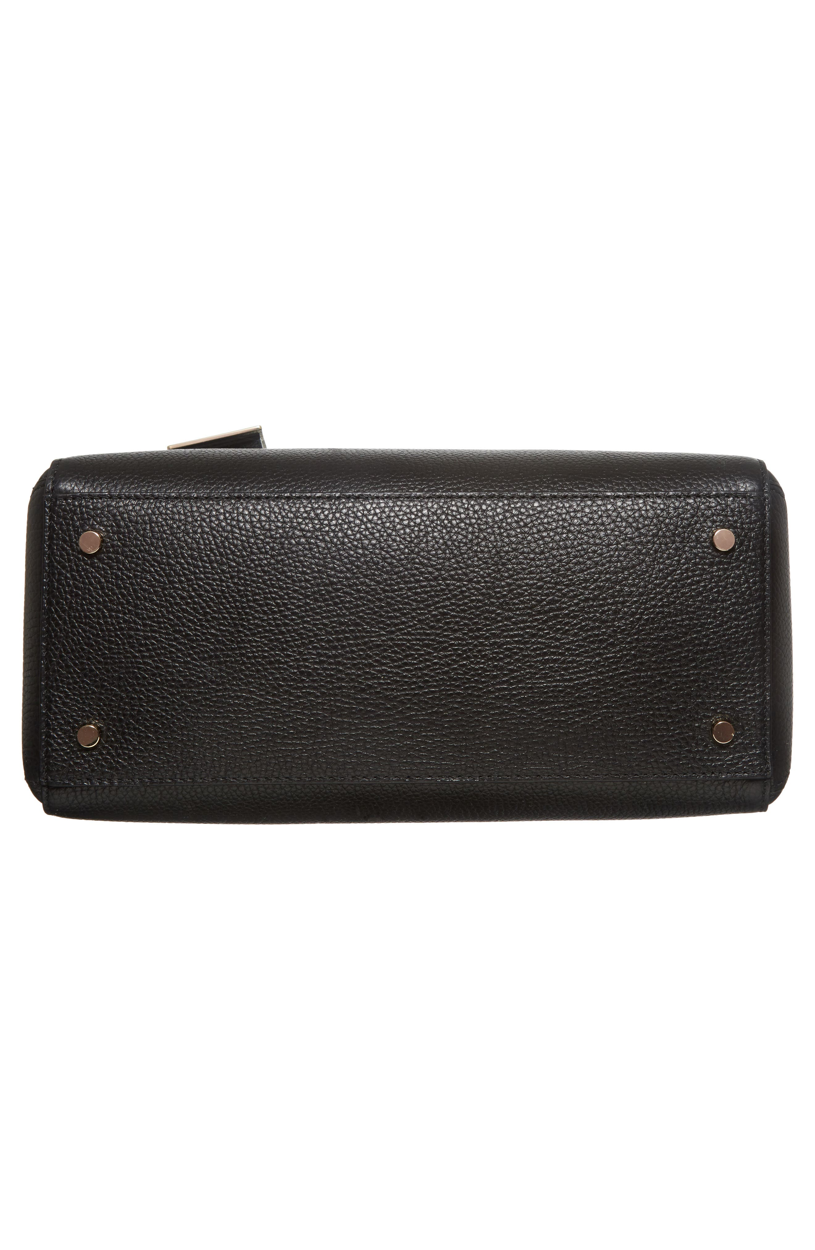 mega madison knollwood drive - lane leather satchel,                             Alternate thumbnail 6, color,                             001