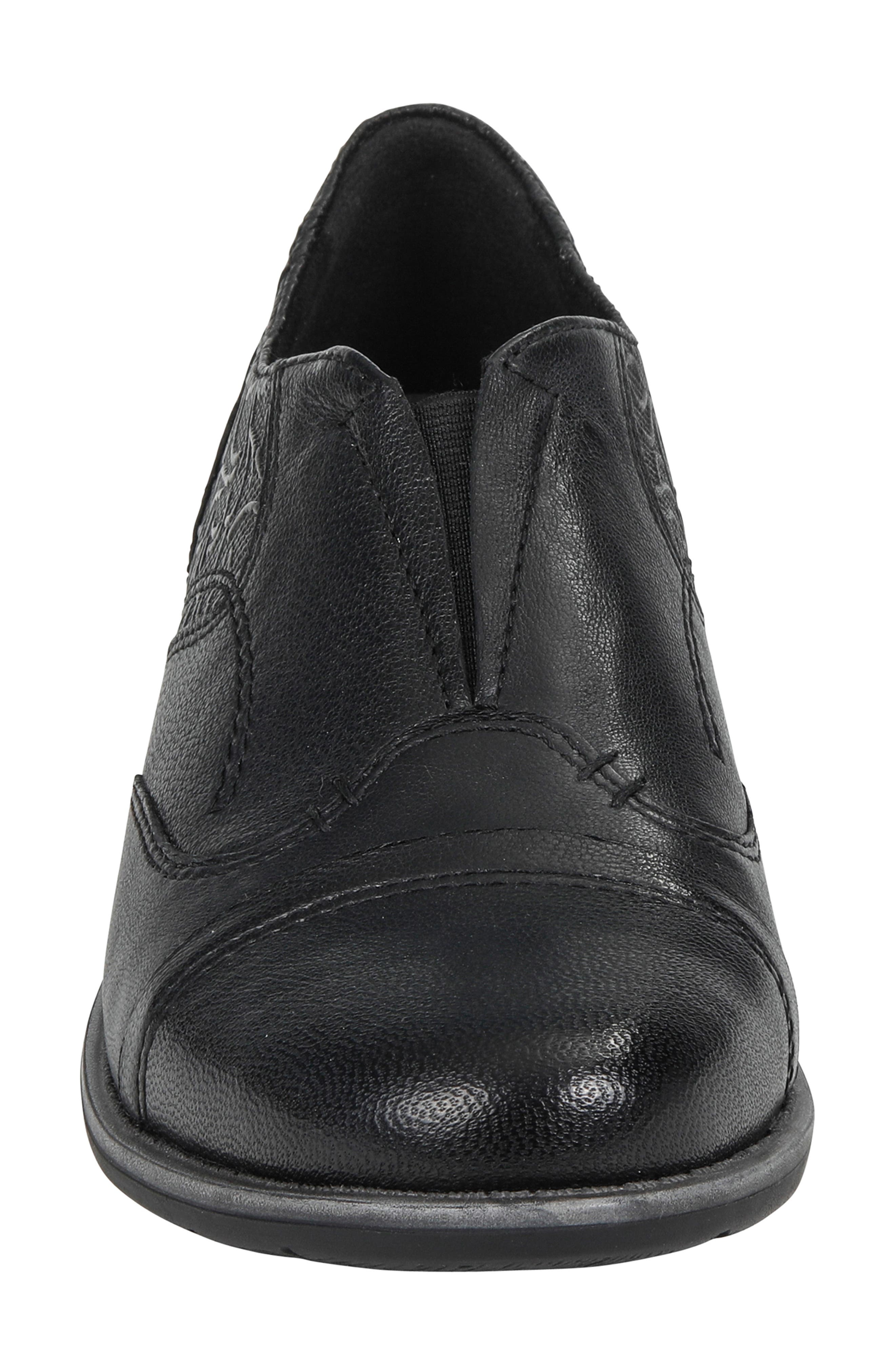 EARTH<SUP>®</SUP>,                             Blythe Loafer,                             Alternate thumbnail 4, color,                             BLACK LEATHER