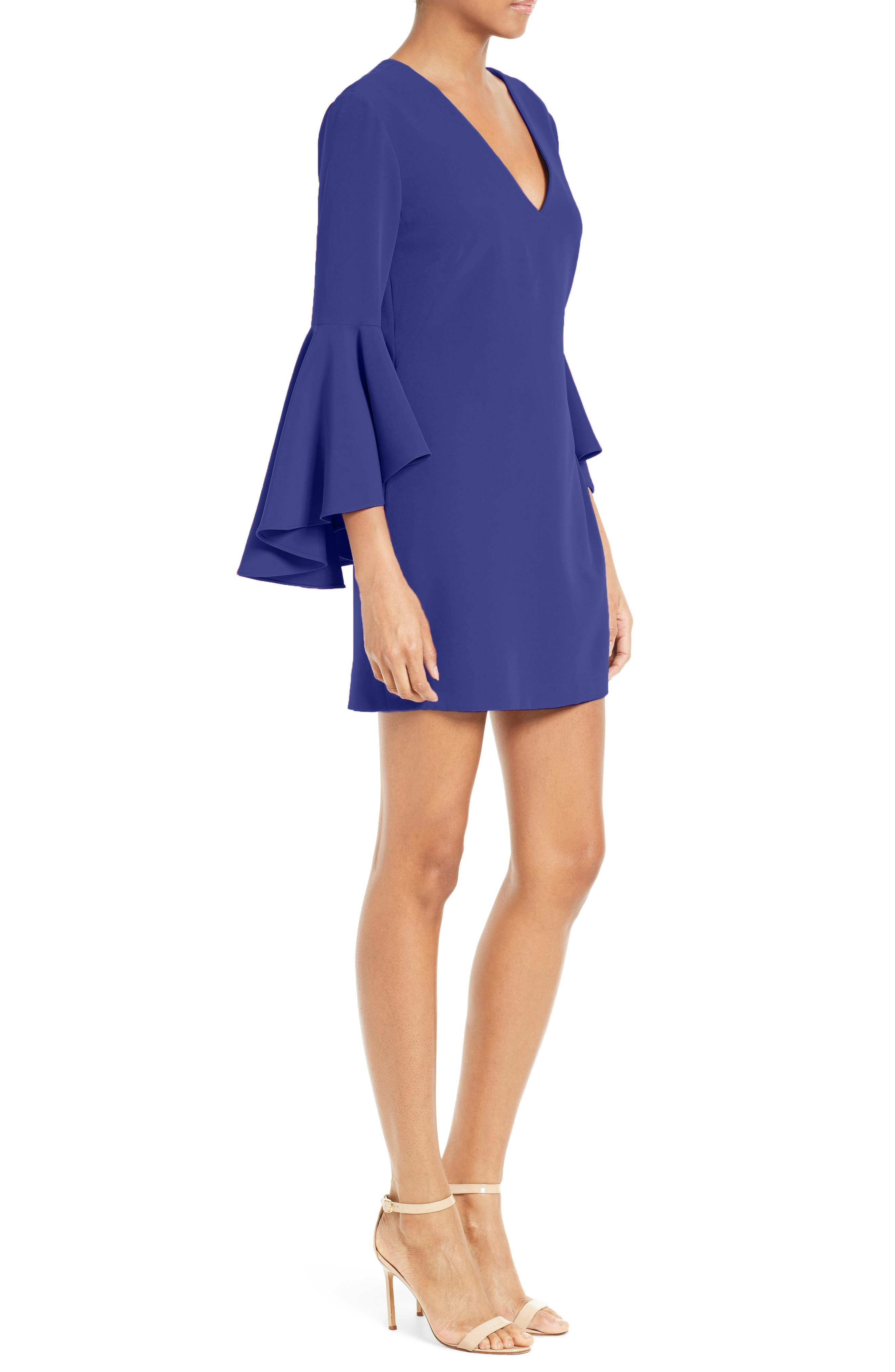 Nicole Bell Sleeve Dress,                             Alternate thumbnail 39, color,