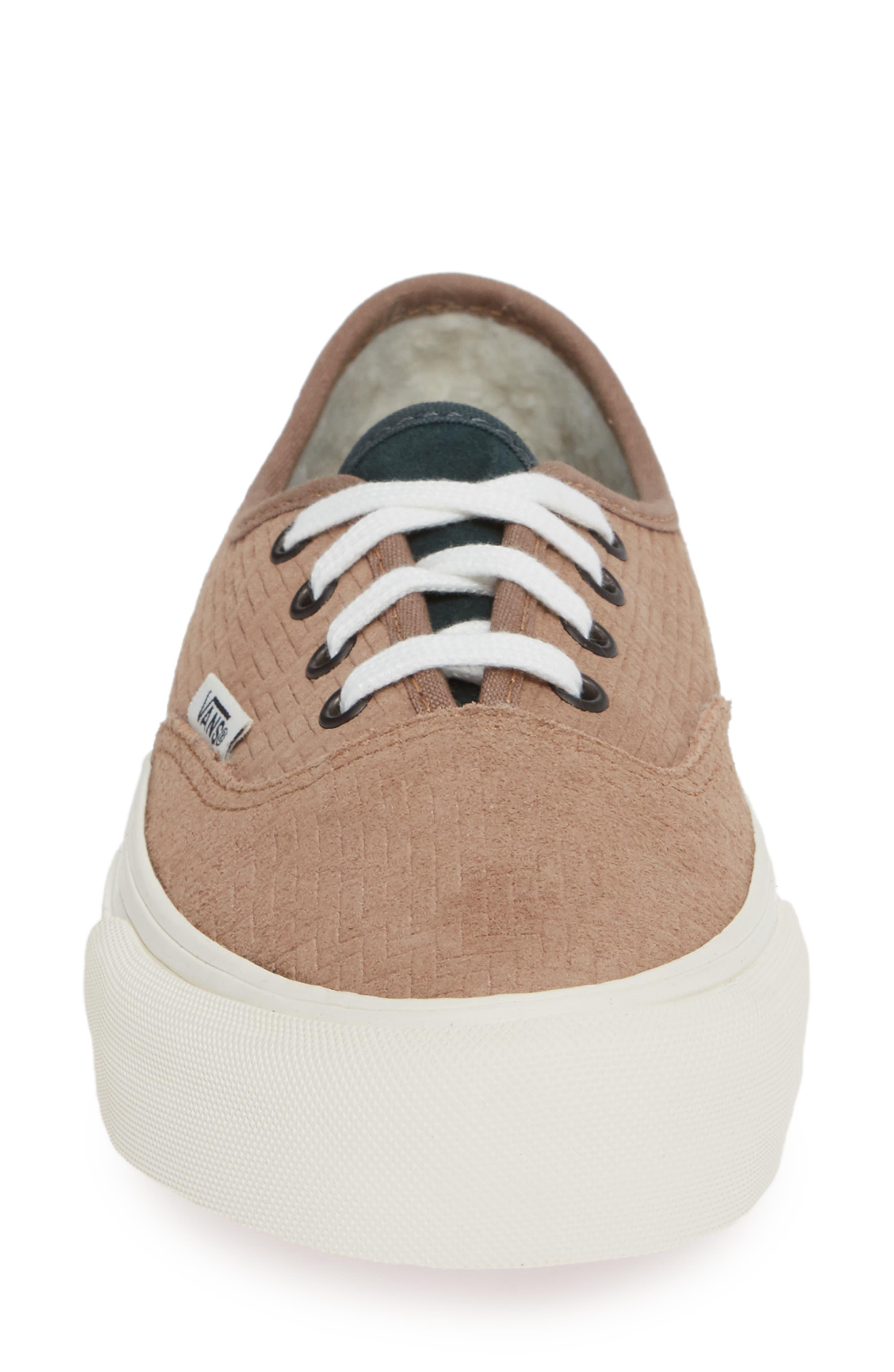 UA Authentic SF Collapsible Heel Sneaker,                             Alternate thumbnail 4, color,                             WOODSMOKE/ DARKEST SPRUCE