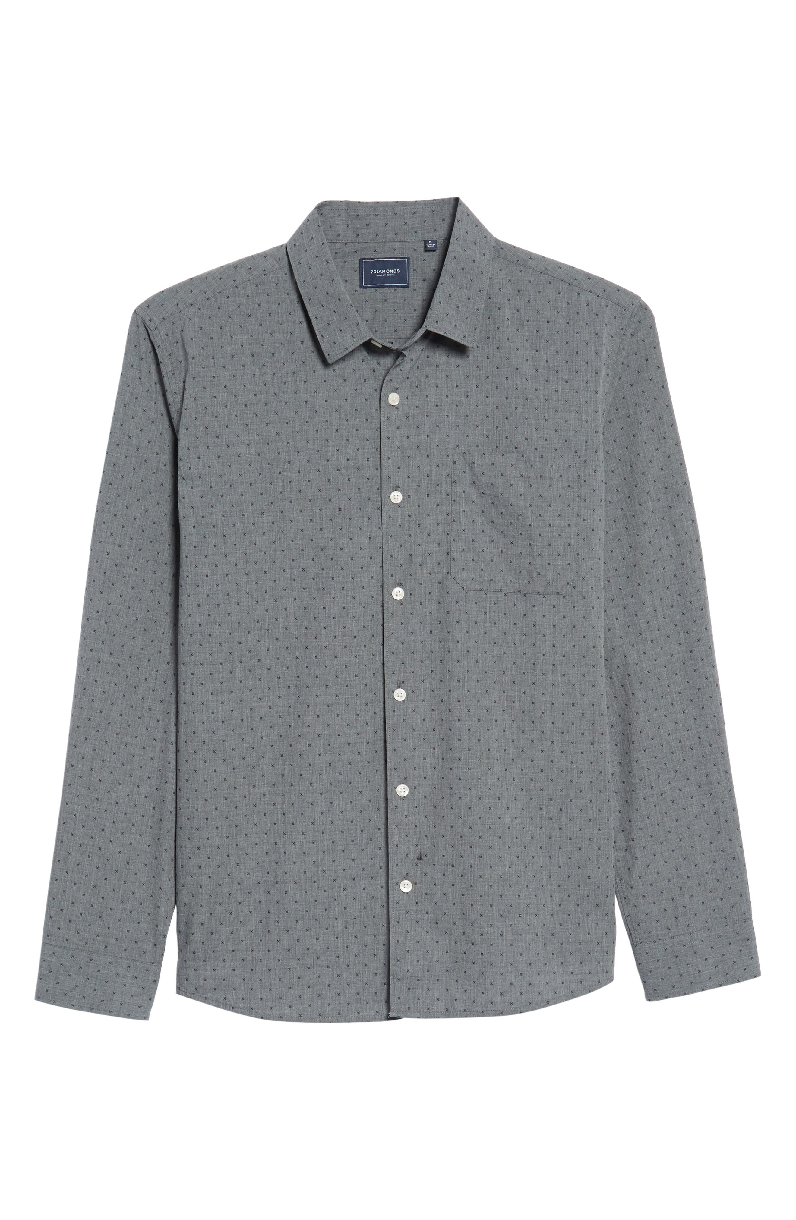 Steel Sky Woven Shirt,                             Alternate thumbnail 6, color,                             410