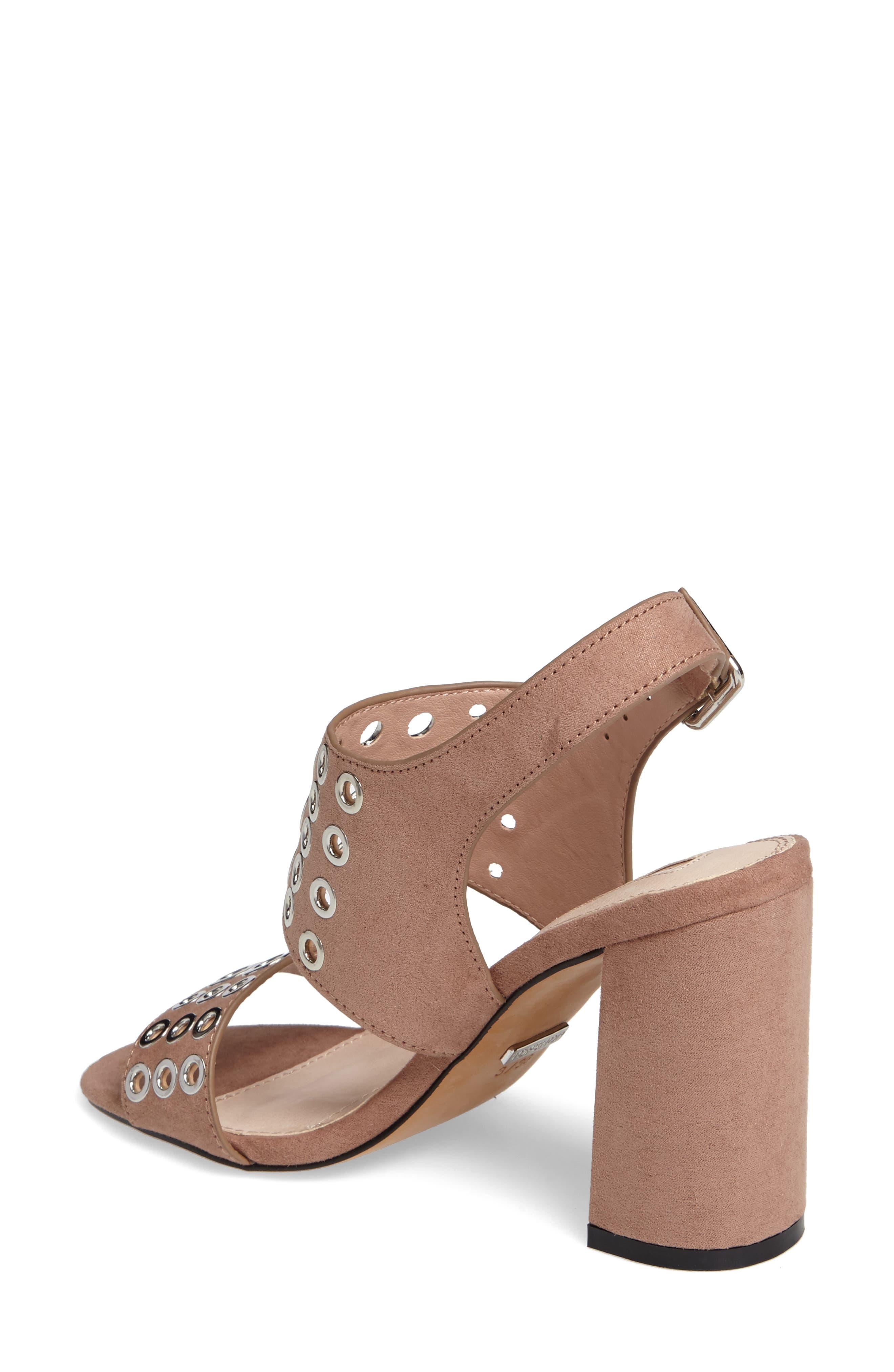 Nadia Rivet Block Heel Sandal,                             Alternate thumbnail 4, color,