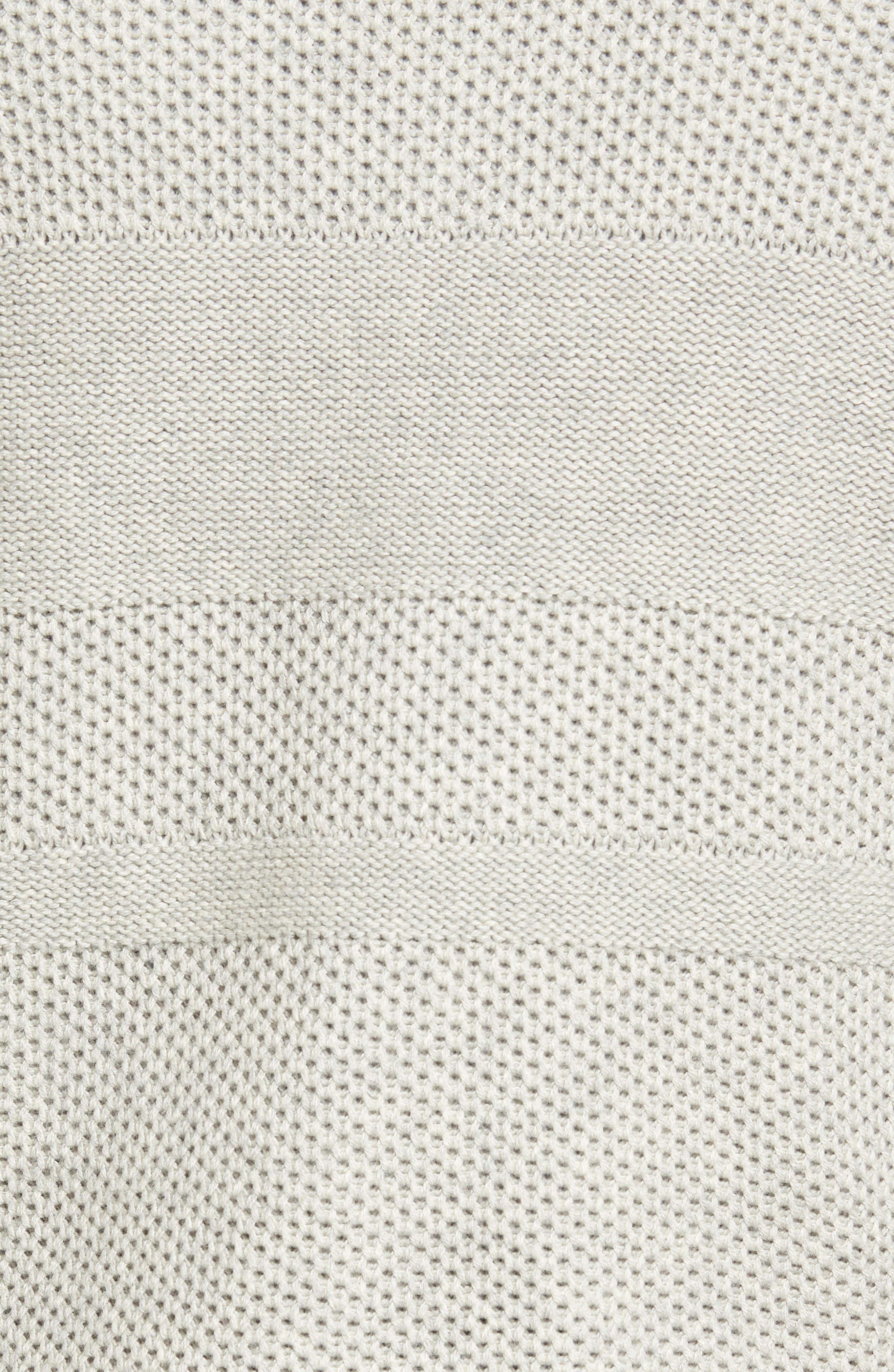 Texture Cotton & Cashmere Quarter Zip Sweater,                             Alternate thumbnail 6, color,                             050