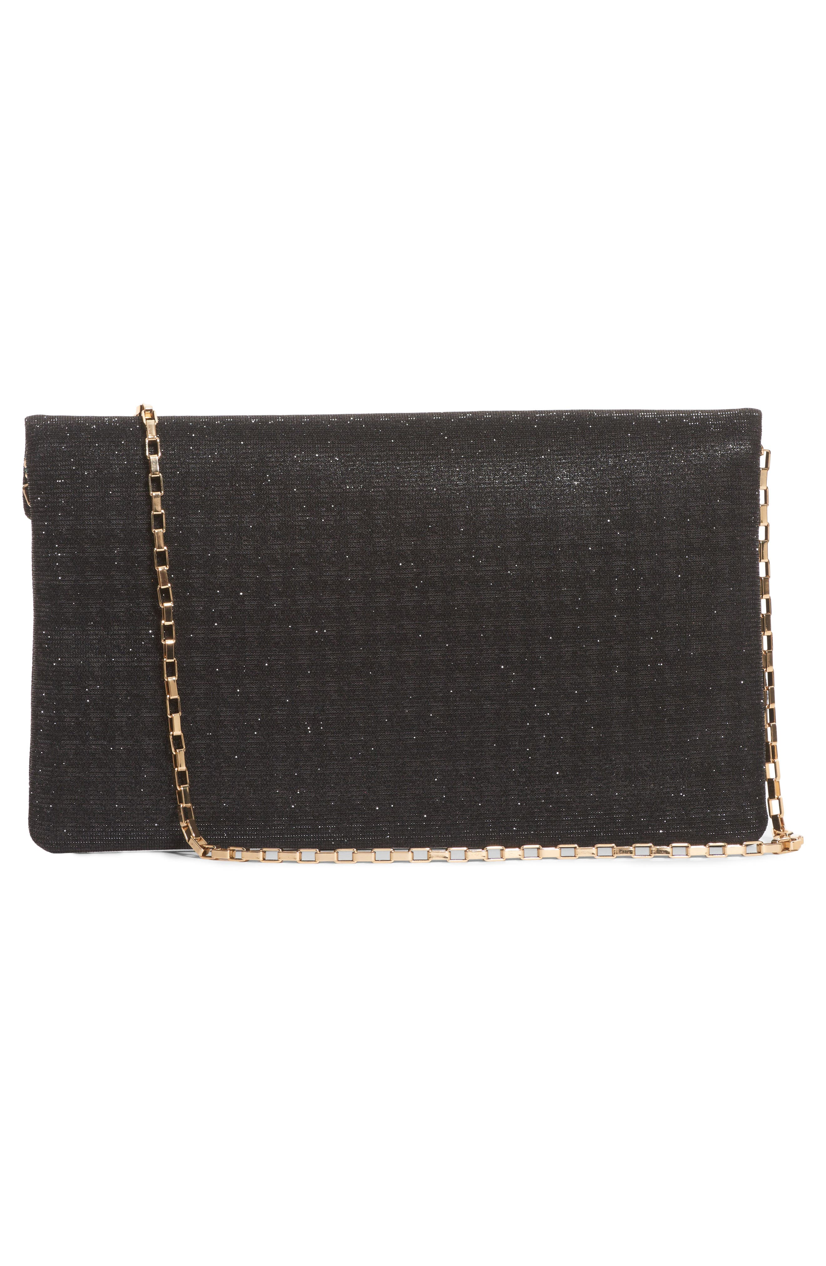 Hashtag Foldover Clutch,                             Alternate thumbnail 3, color,                             002