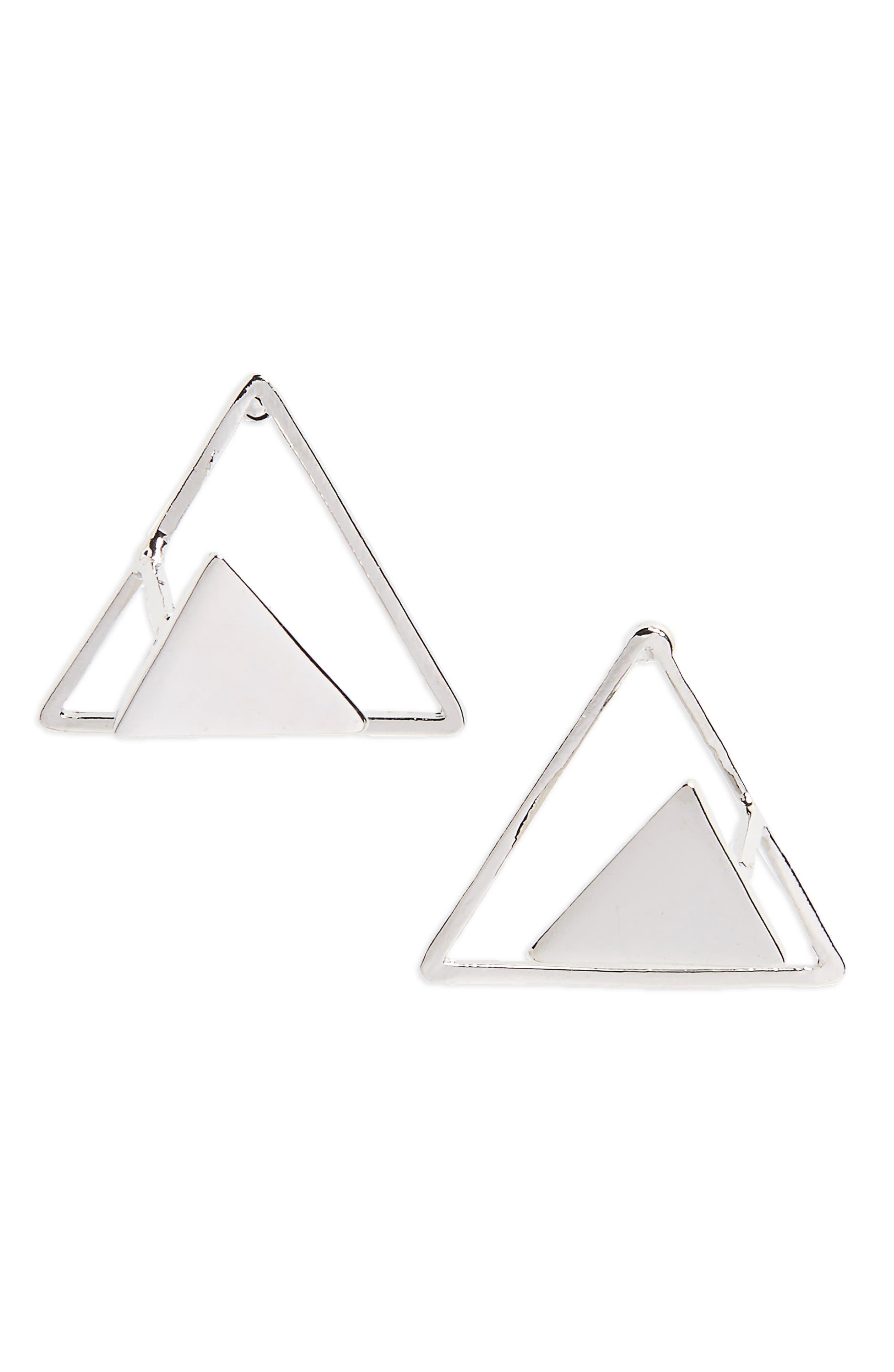 Triangle Earrings,                             Main thumbnail 1, color,