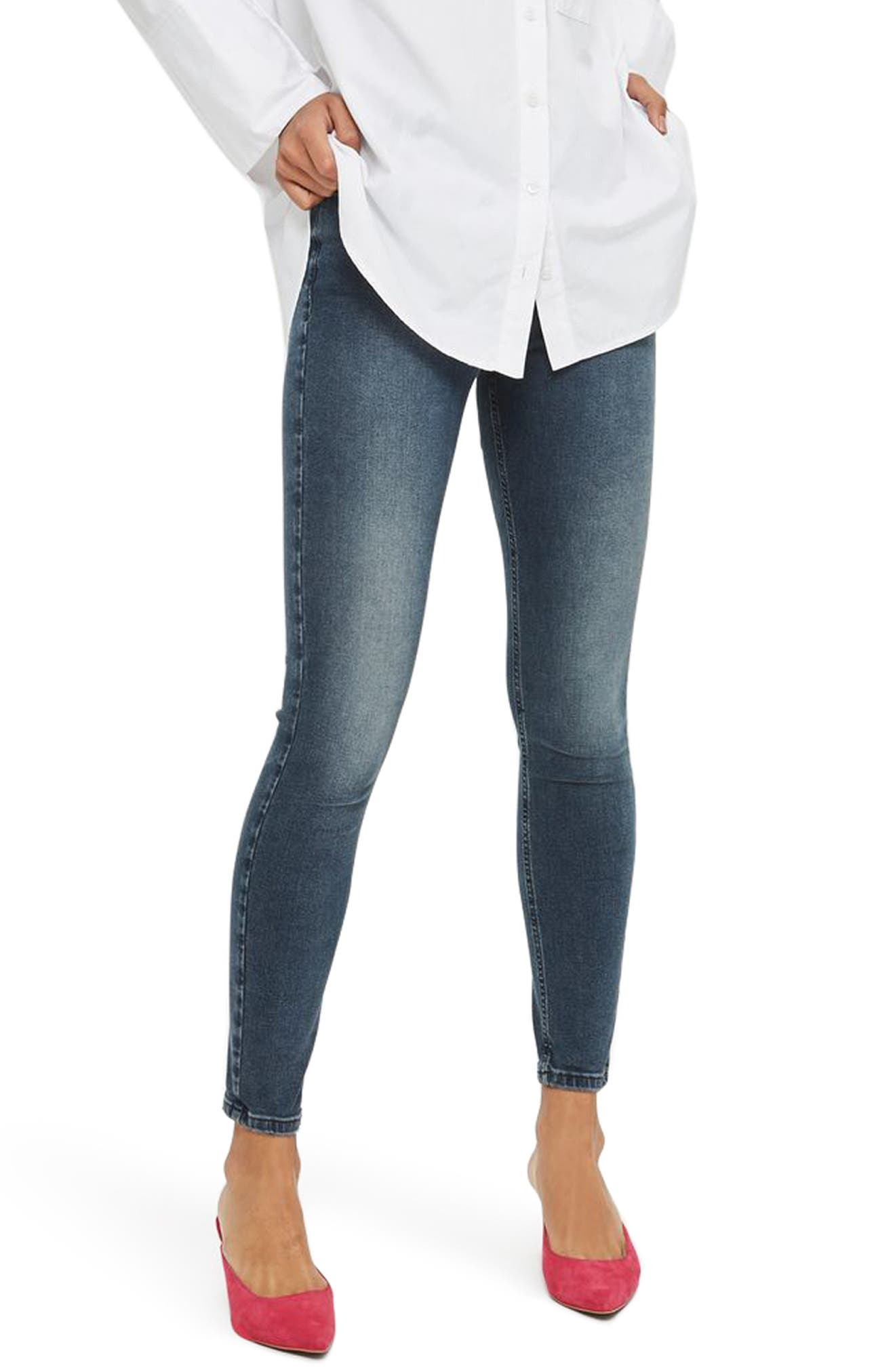 Jamie High Waist Ankle Skinny Jeans,                             Main thumbnail 1, color,                             410