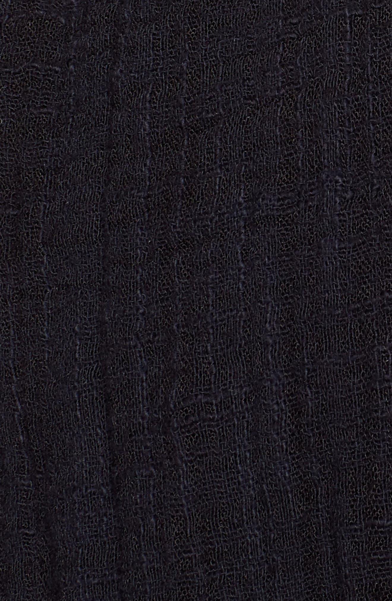 Tie Wrap Kimono,                             Alternate thumbnail 5, color,                             BLACK