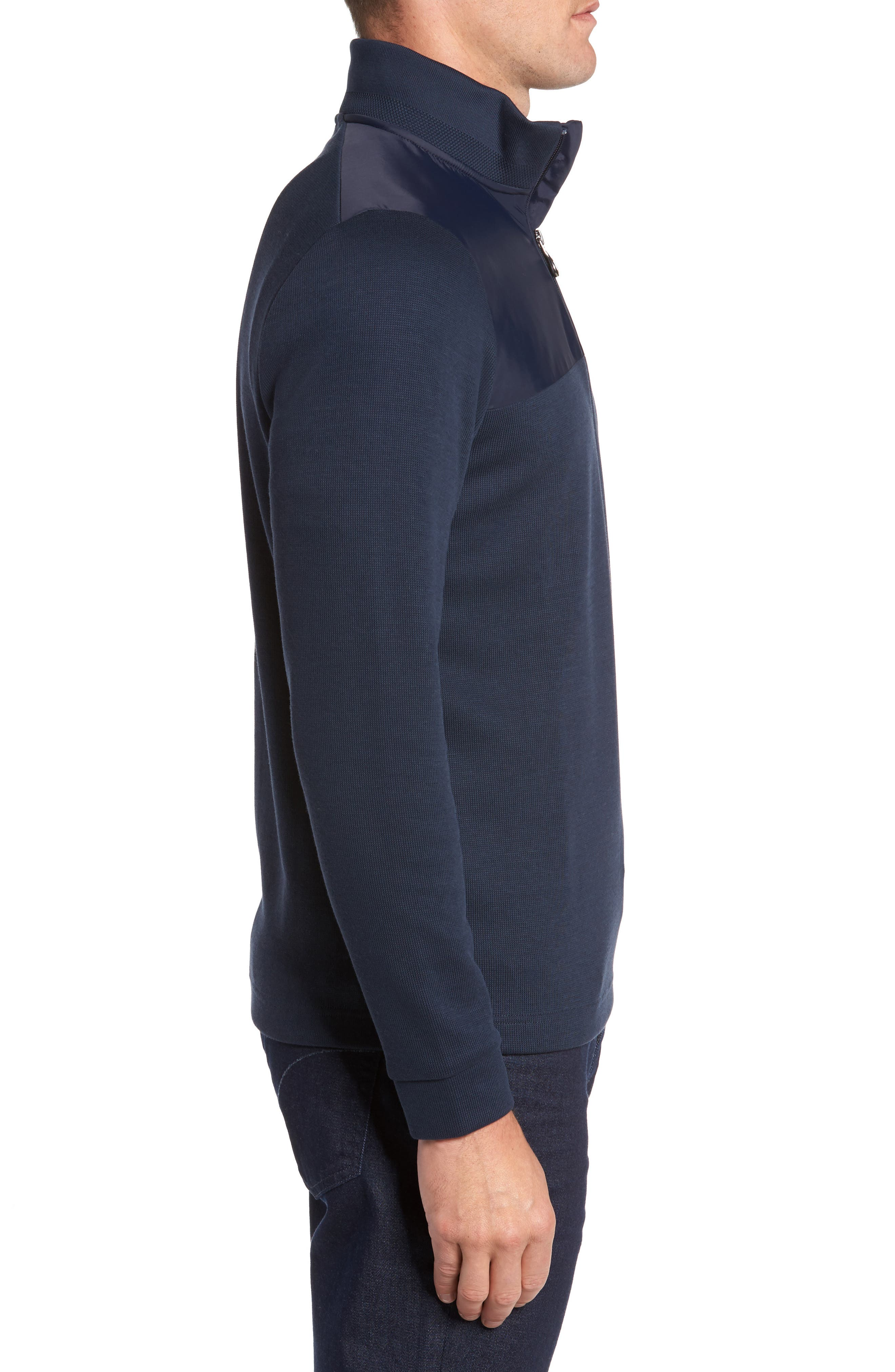 C-Piceno Quarter Zip Fleece Pullover,                             Alternate thumbnail 9, color,