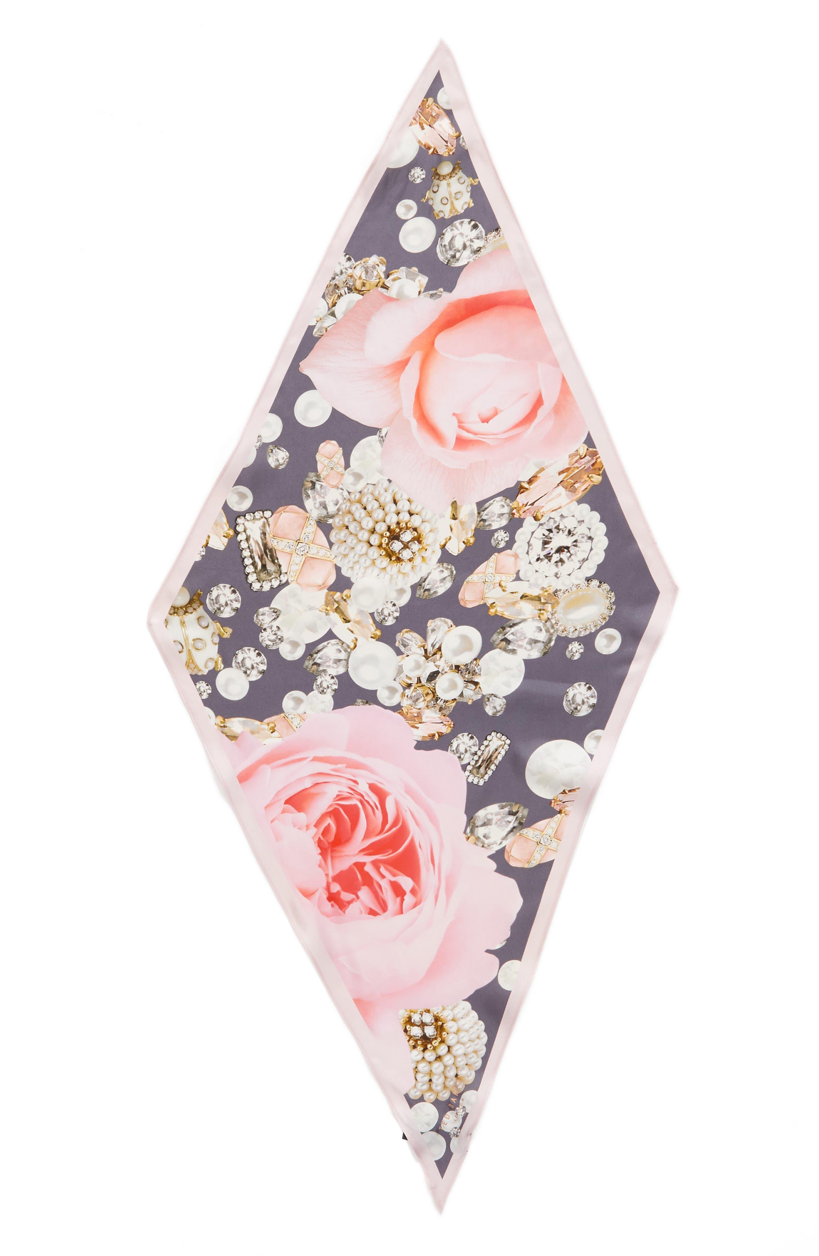 Blenheim Jewels Diamond Silk Scarf,                             Alternate thumbnail 3, color,