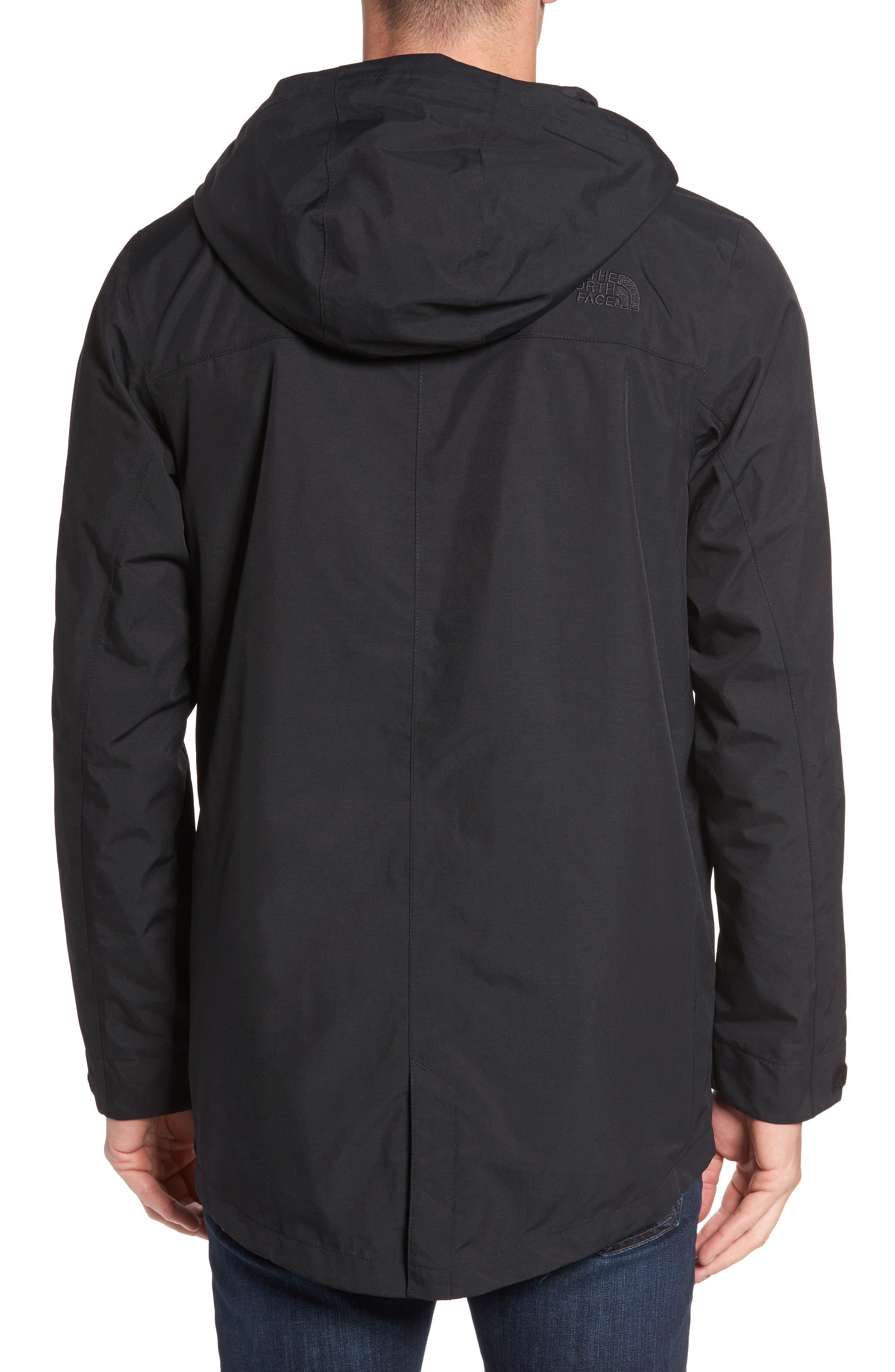 El Misti Trench II Hooded Jacket,                             Alternate thumbnail 2, color,                             BLACK