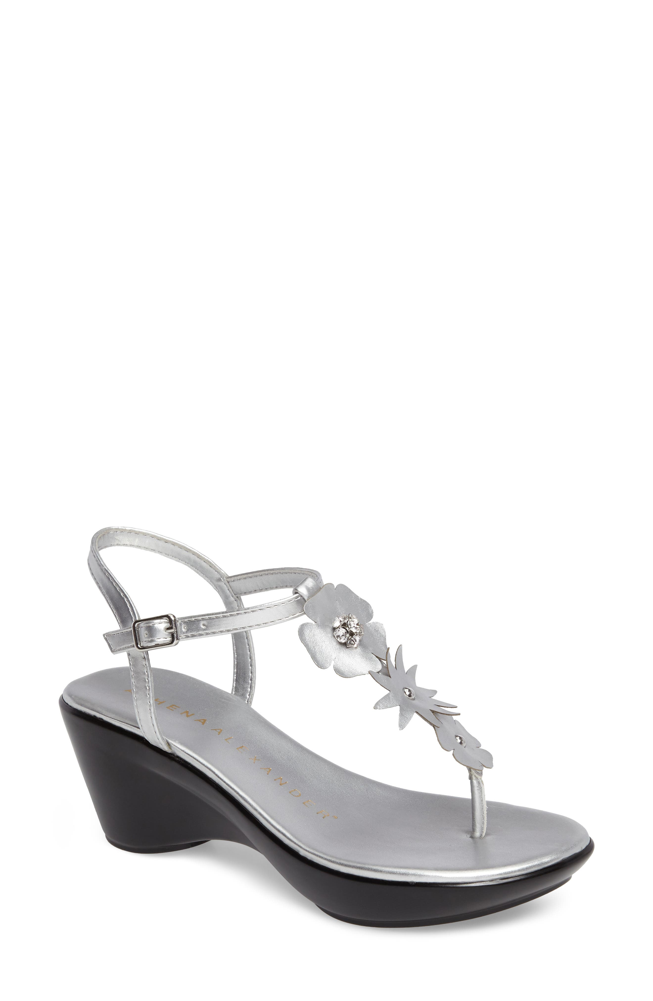 Gianna Embellished T-Strap Wedge,                             Main thumbnail 2, color,