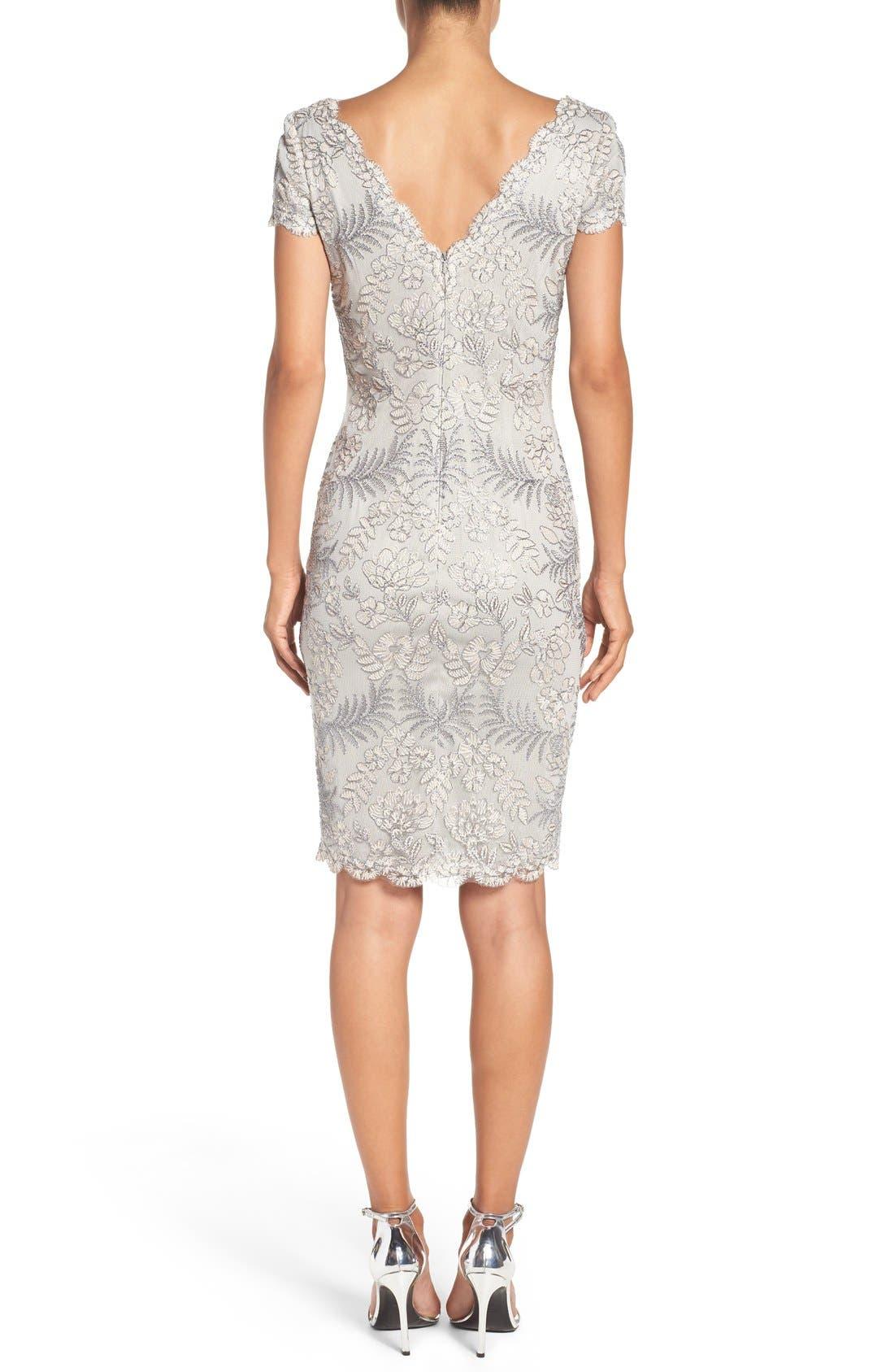 Lace Sheath Dress,                             Alternate thumbnail 2, color,                             LIGHT PEARL