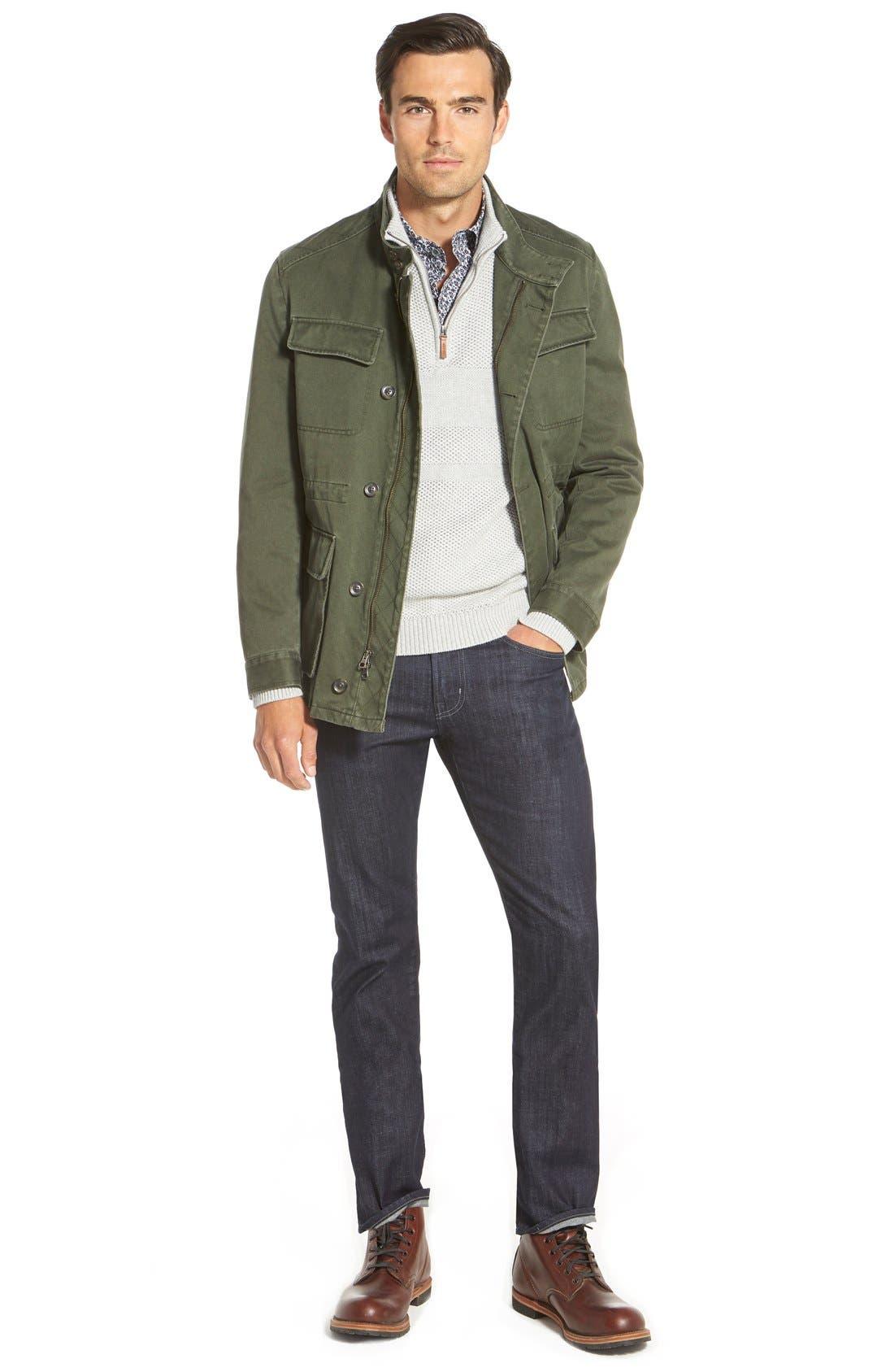 Texture Cotton & Cashmere Quarter Zip Sweater,                             Alternate thumbnail 9, color,                             050