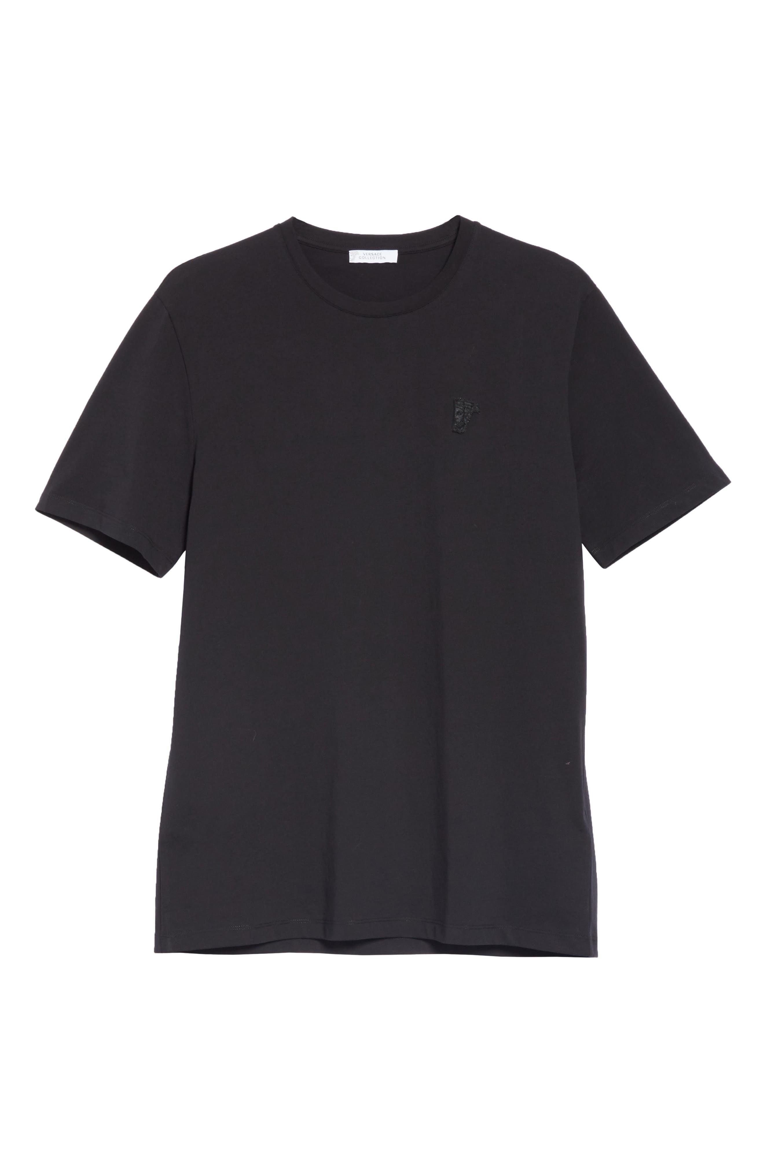 VERSACE COLLECTION,                             Half Medusa T-Shirt,                             Alternate thumbnail 6, color,                             BLACK