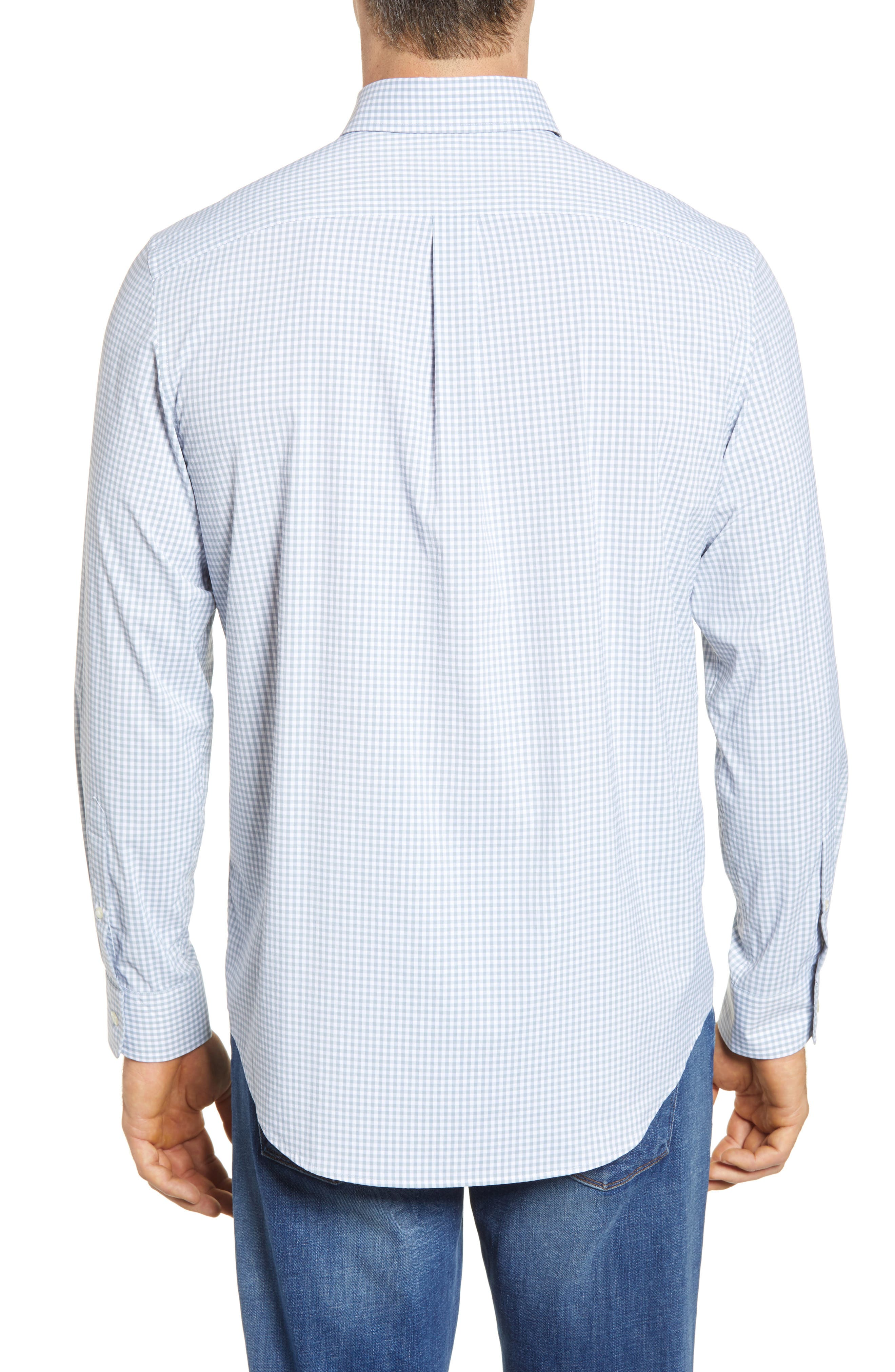 VINEYARD VINES,                             Grand Cay Tucker Regular Fit Gingham Performance Sport Shirt,                             Alternate thumbnail 2, color,                             023