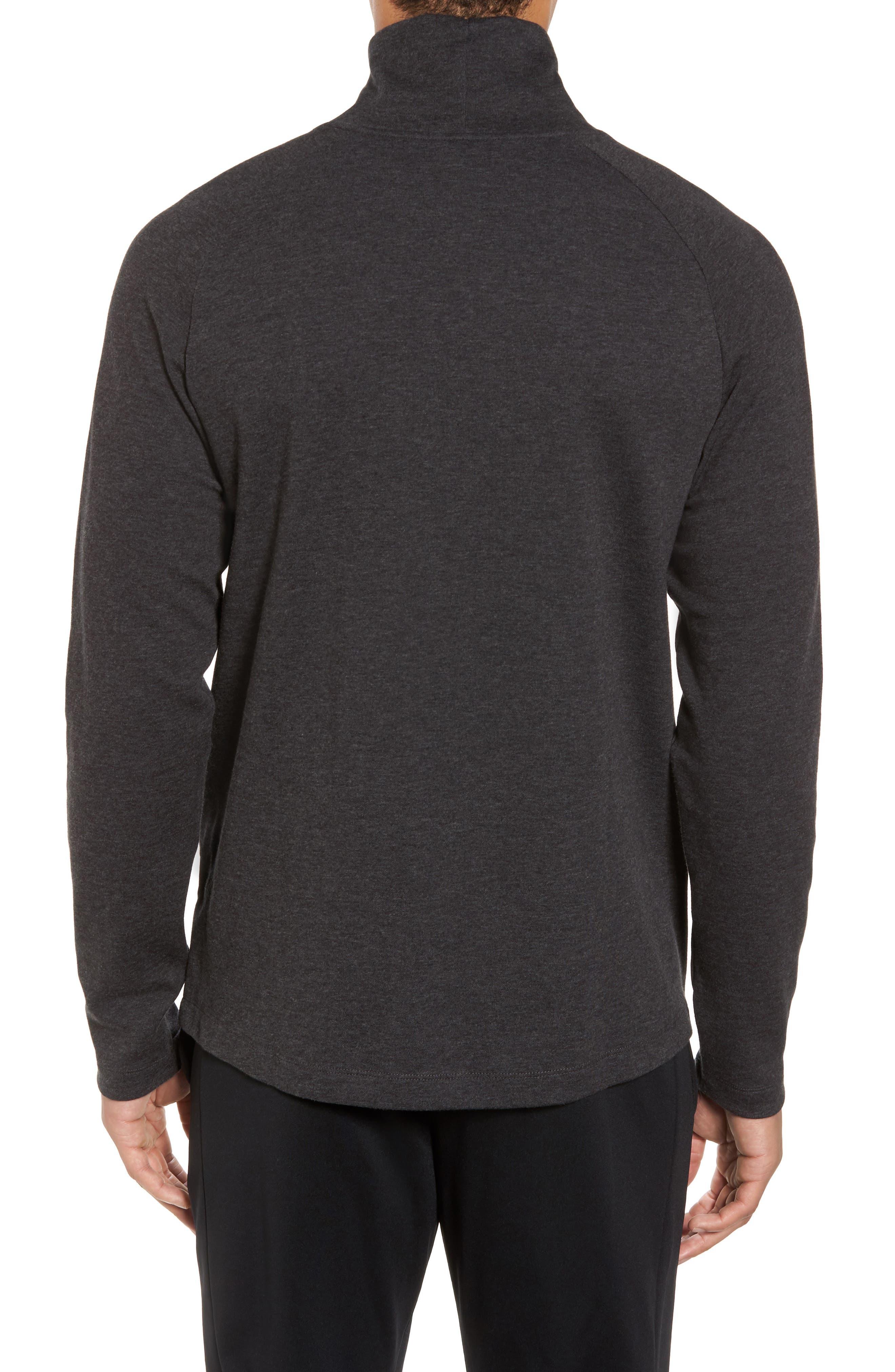 Mock Neck Long Sleeve Running T-Shirt,                             Alternate thumbnail 2, color,                             010