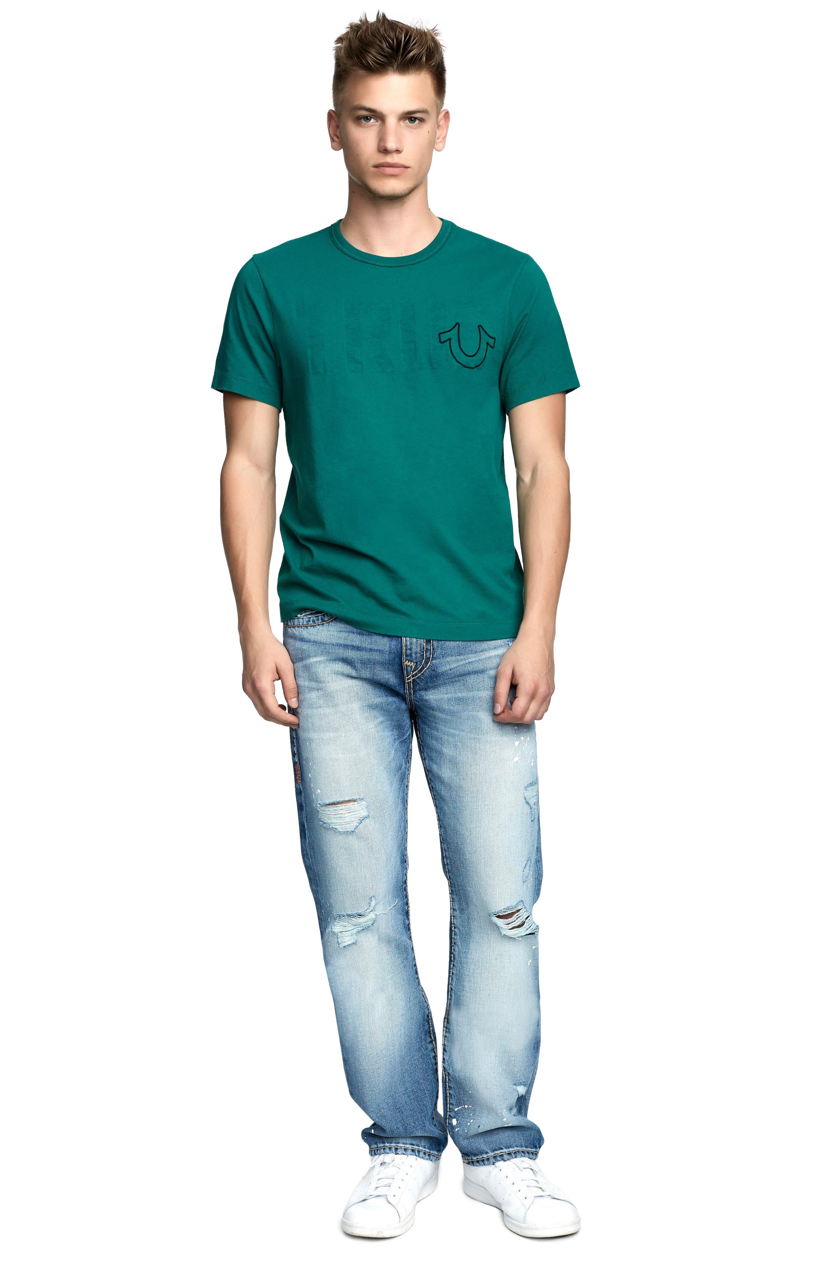True Slogan T-Shirt,                             Alternate thumbnail 3, color,                             DARK AGAVE