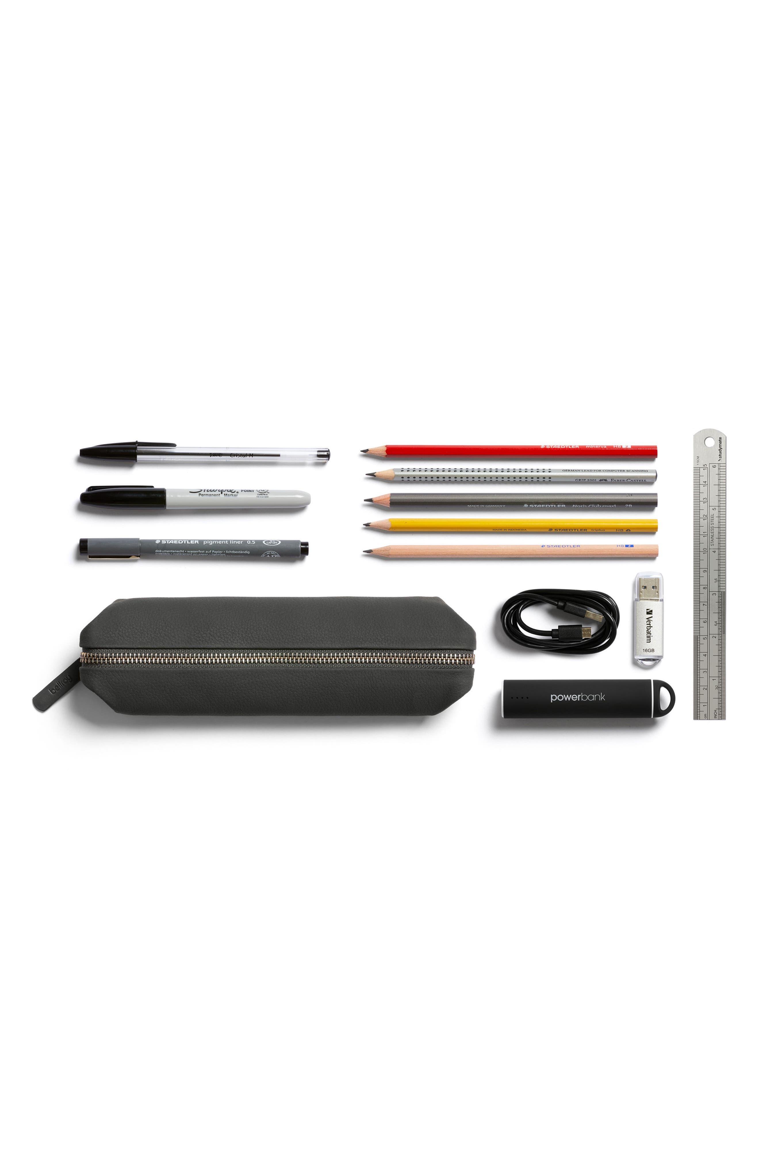 Faux Leather Pencil Case,                             Alternate thumbnail 5, color,                             020