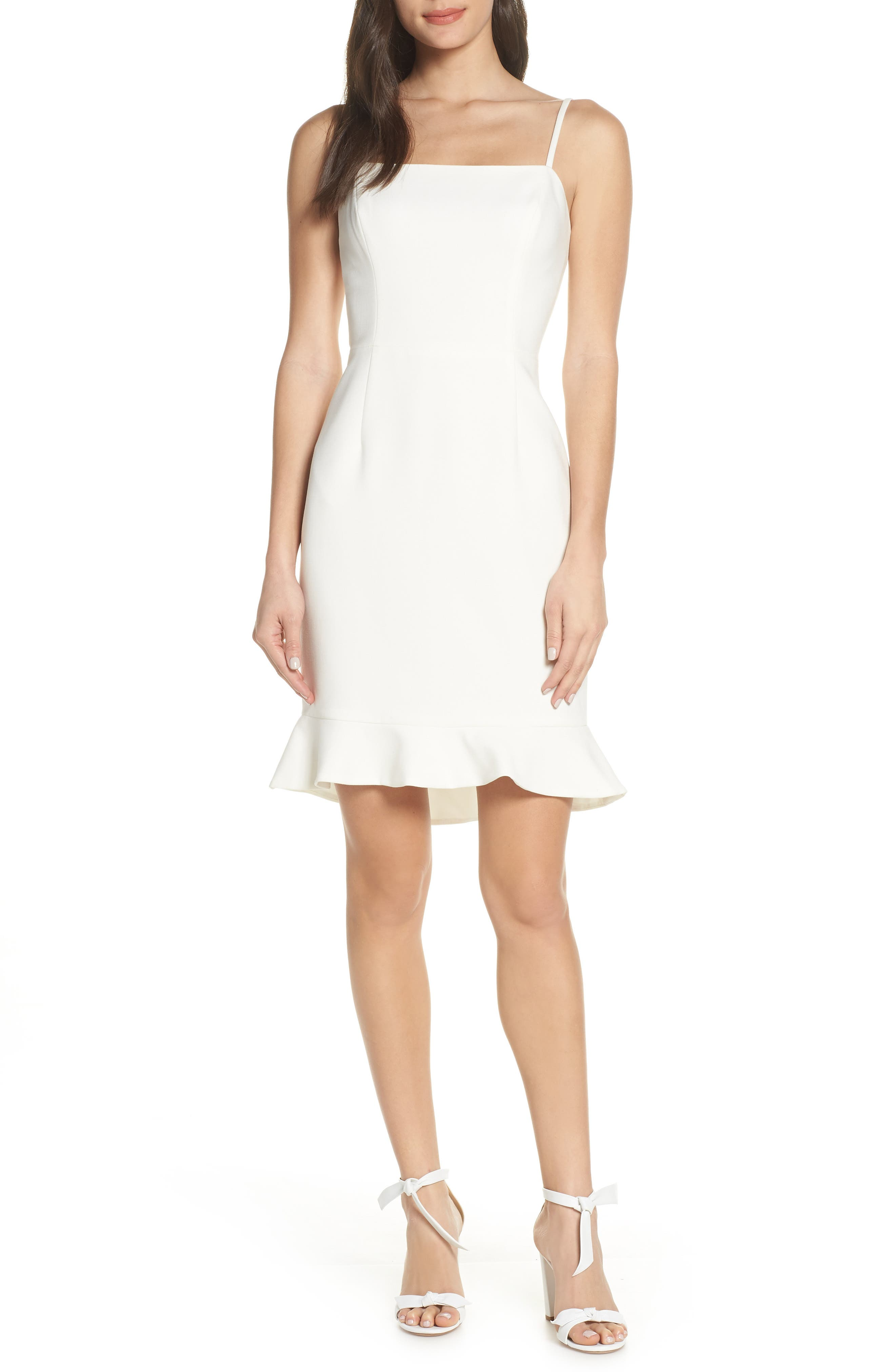 French Connection Whisper Sweetheart Dress, White