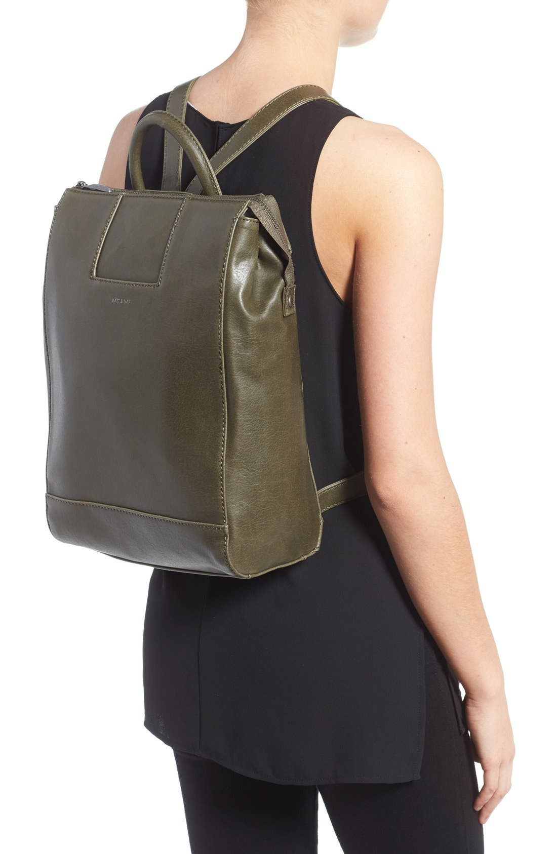 'Katherine' Faux Leather Backpack,                             Alternate thumbnail 10, color,