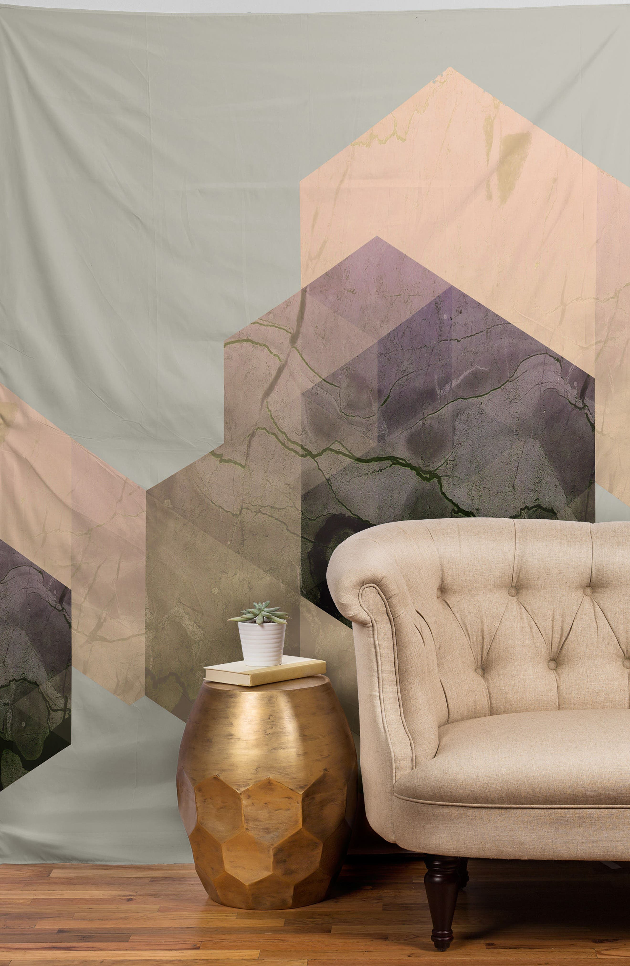 Marble Geometry Tapestry,                             Alternate thumbnail 2, color,                             500