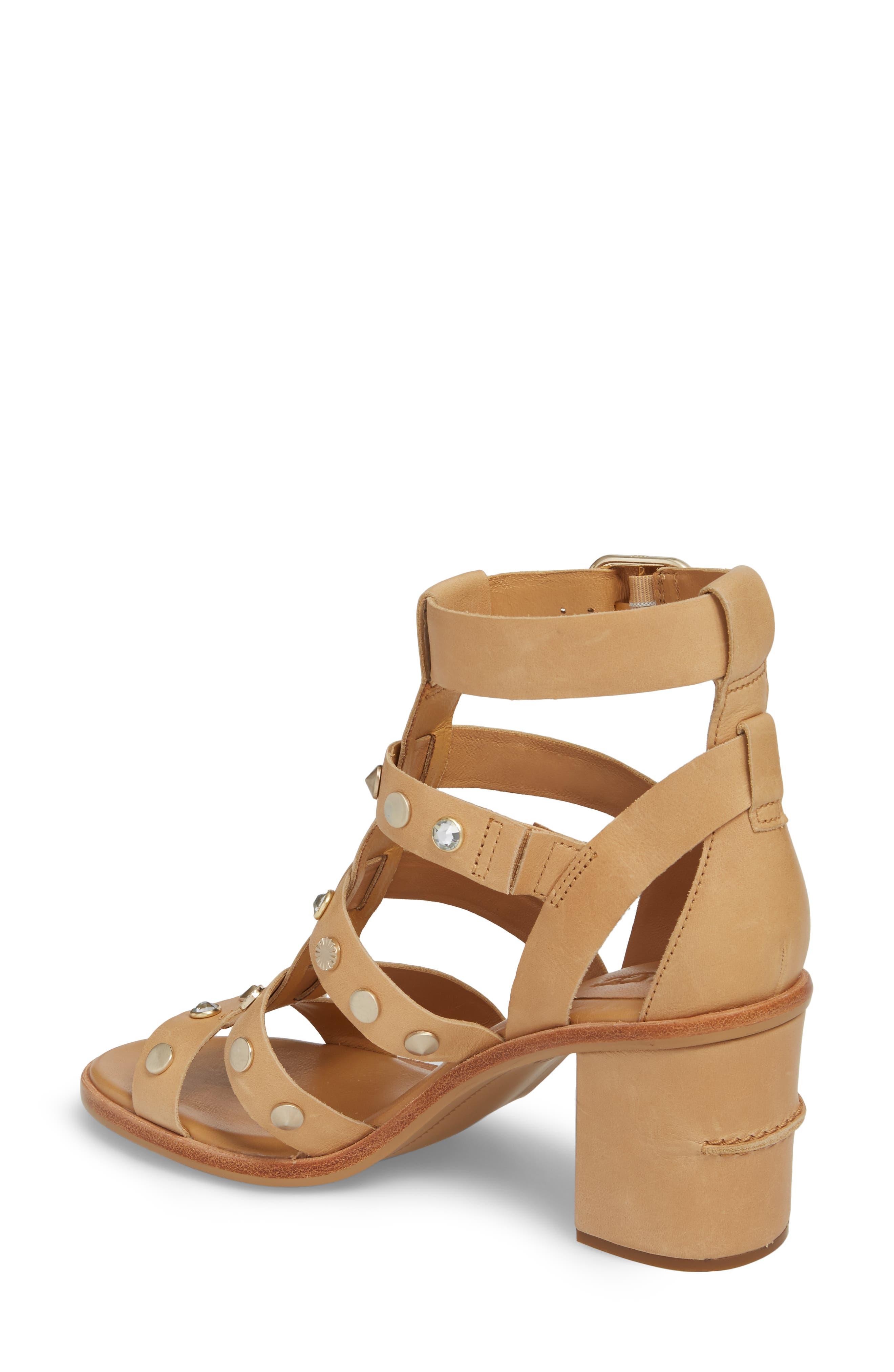 Macayla Studded Sandal,                             Alternate thumbnail 4, color,