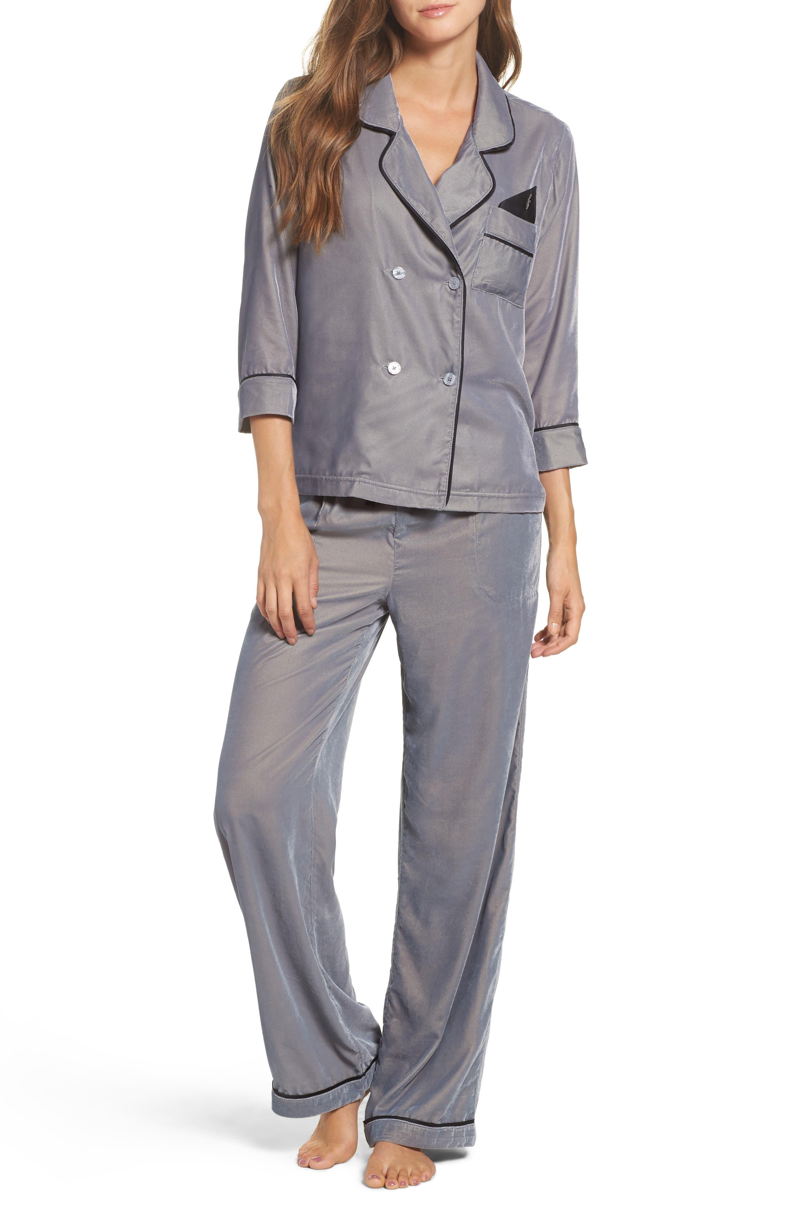 Velvet Pajama Pants,                             Alternate thumbnail 20, color,