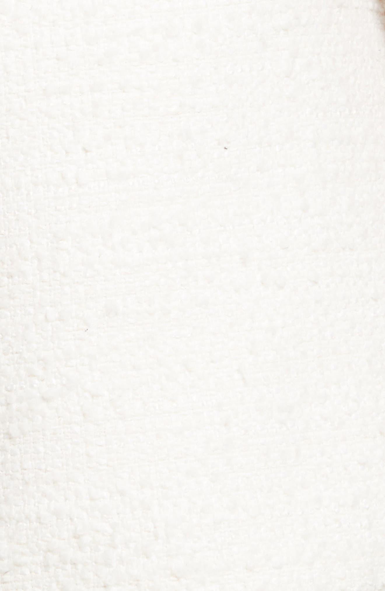 Chain Mail Trim Tweed Dress,                             Alternate thumbnail 5, color,                             900