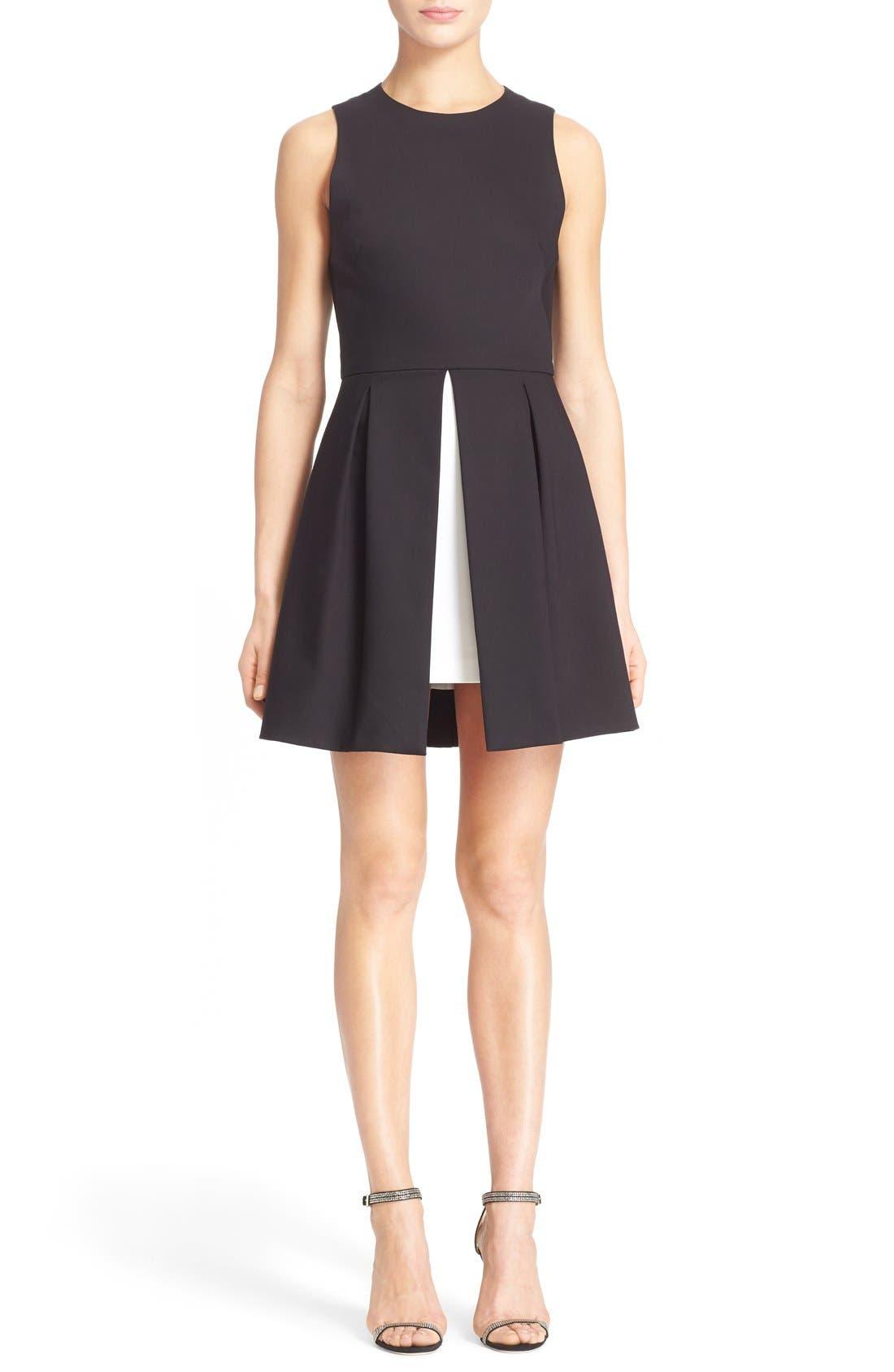 'Bria' Peplum Fit & Flare Dress,                             Main thumbnail 1, color,                             009