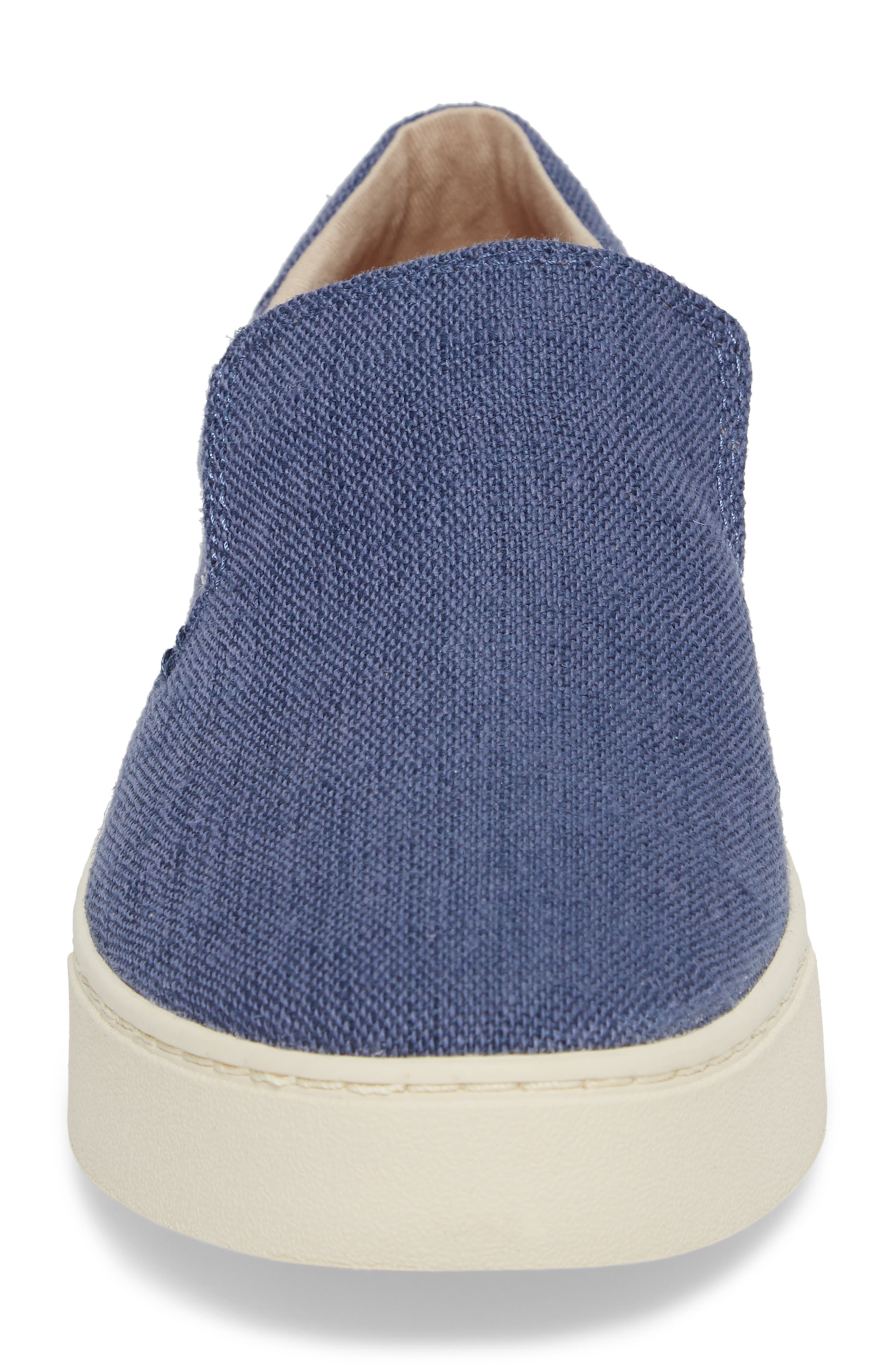 TOMS,                             Loma Slip-On Sneaker,                             Alternate thumbnail 4, color,                             CADET BLUE HERITAGE CANVAS