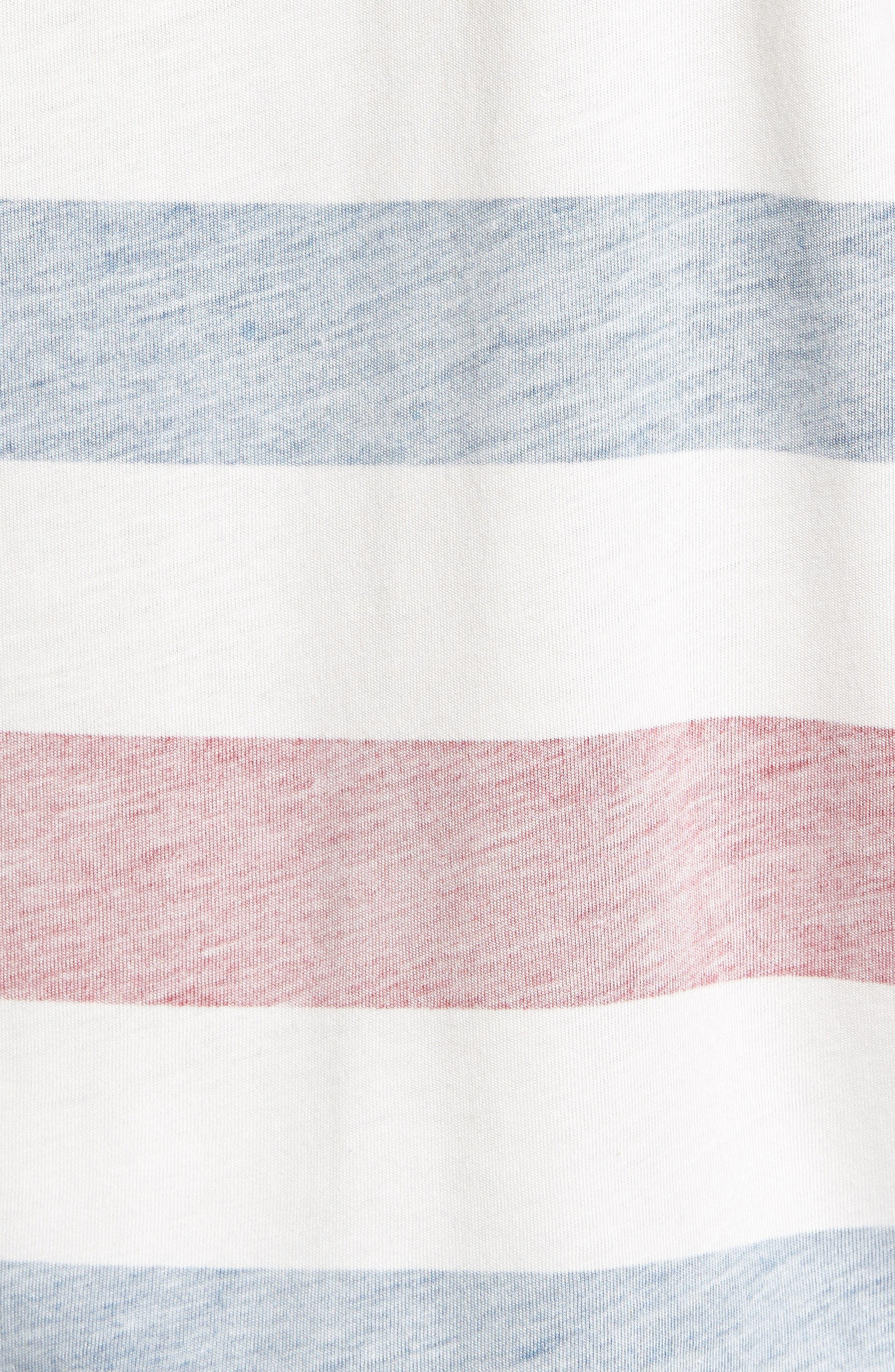 Reverse Stripe Pima Cotton & Modal Crewneck T-Shirt,                             Alternate thumbnail 5, color,