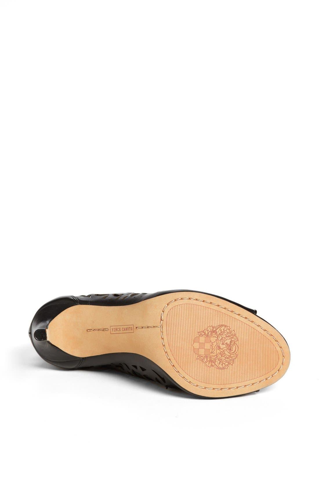 'Kalista' Peep Toe Leather Bootie,                             Alternate thumbnail 5, color,