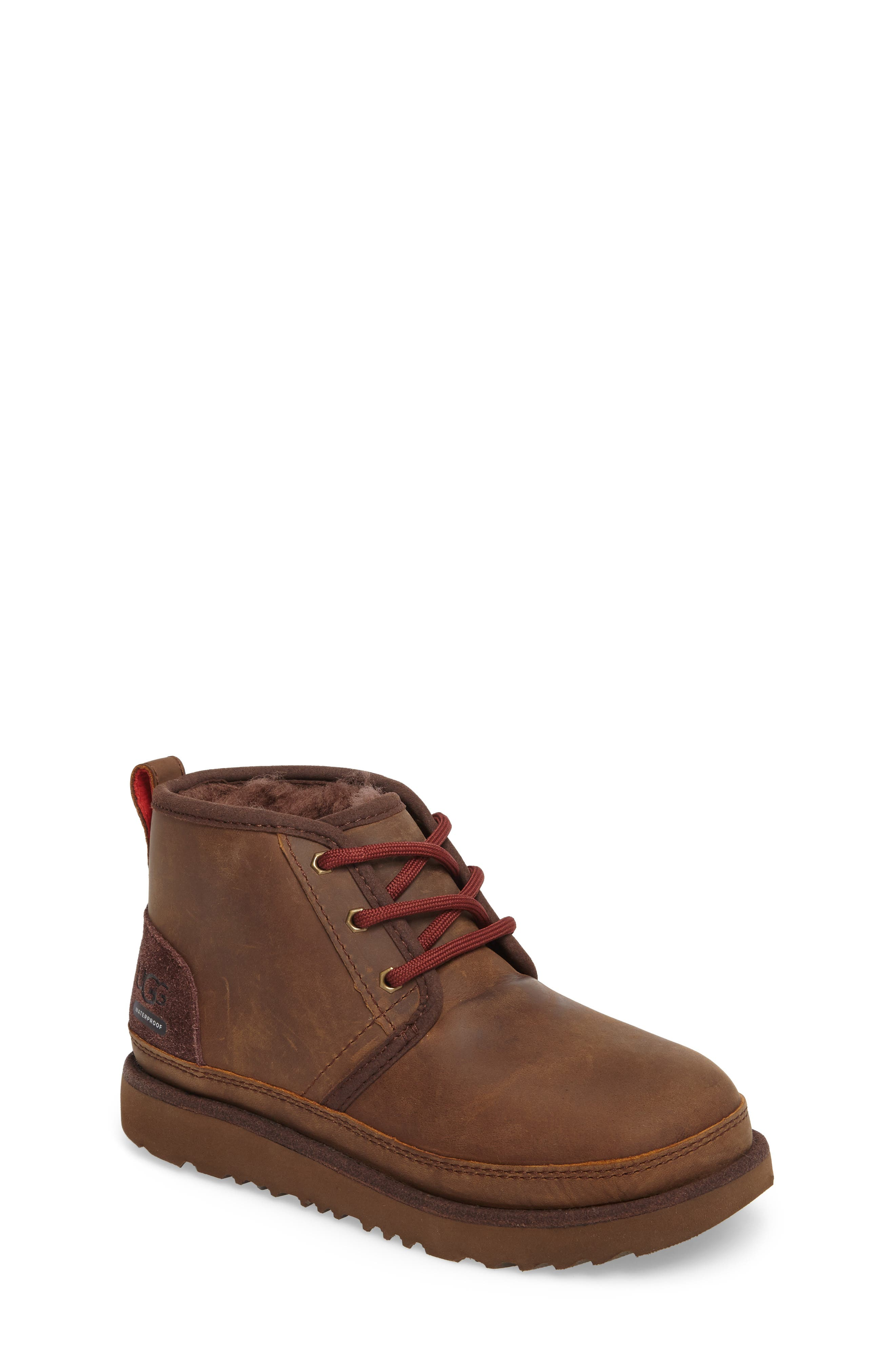 UGG<SUP>®</SUP>,                             Neumel II Waterproof Chukka,                             Main thumbnail 1, color,                             GRIZZLY