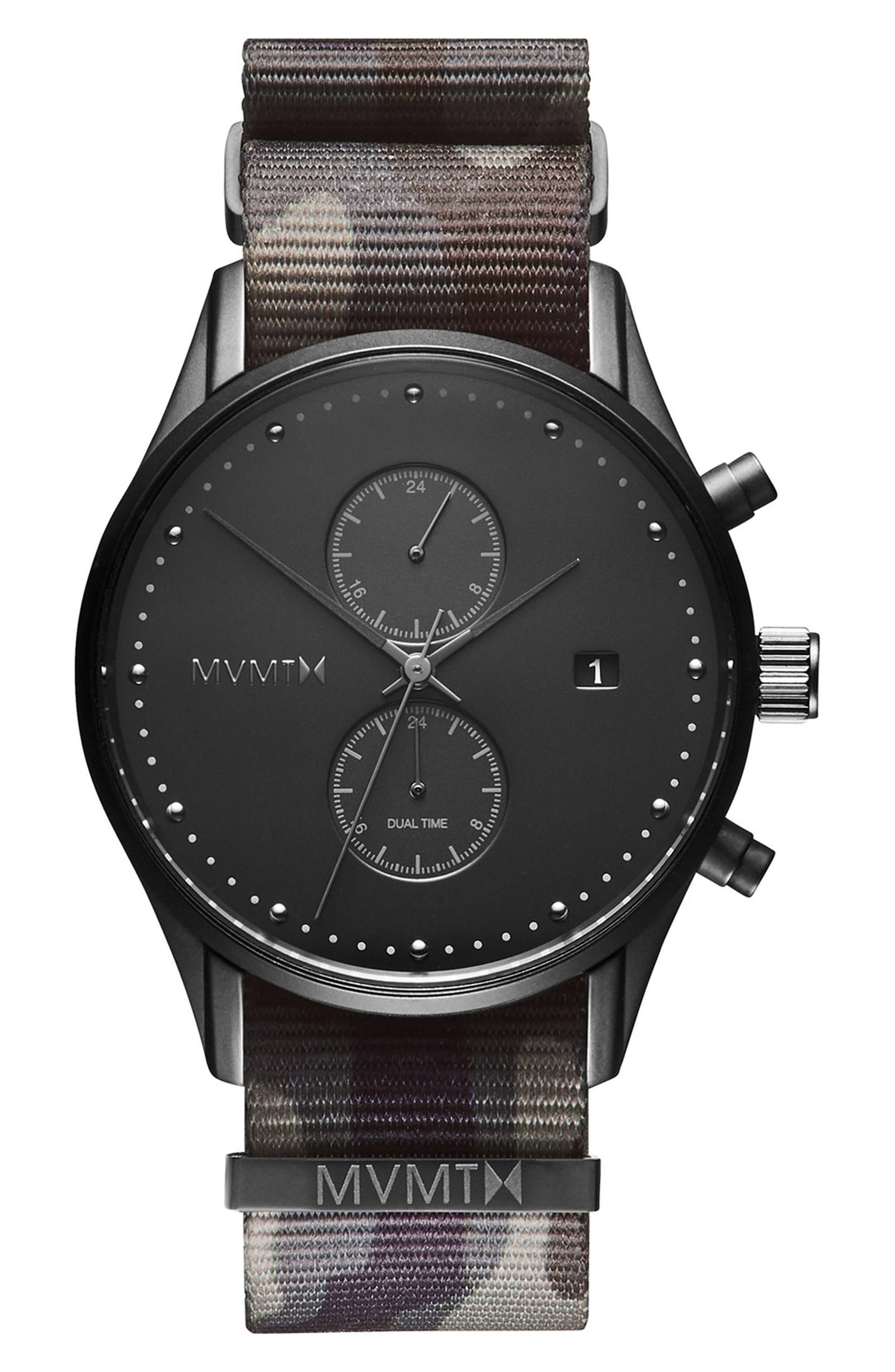 Voyager Chronograph NATO Strap Watch, 42mm,                             Main thumbnail 1, color,                             300