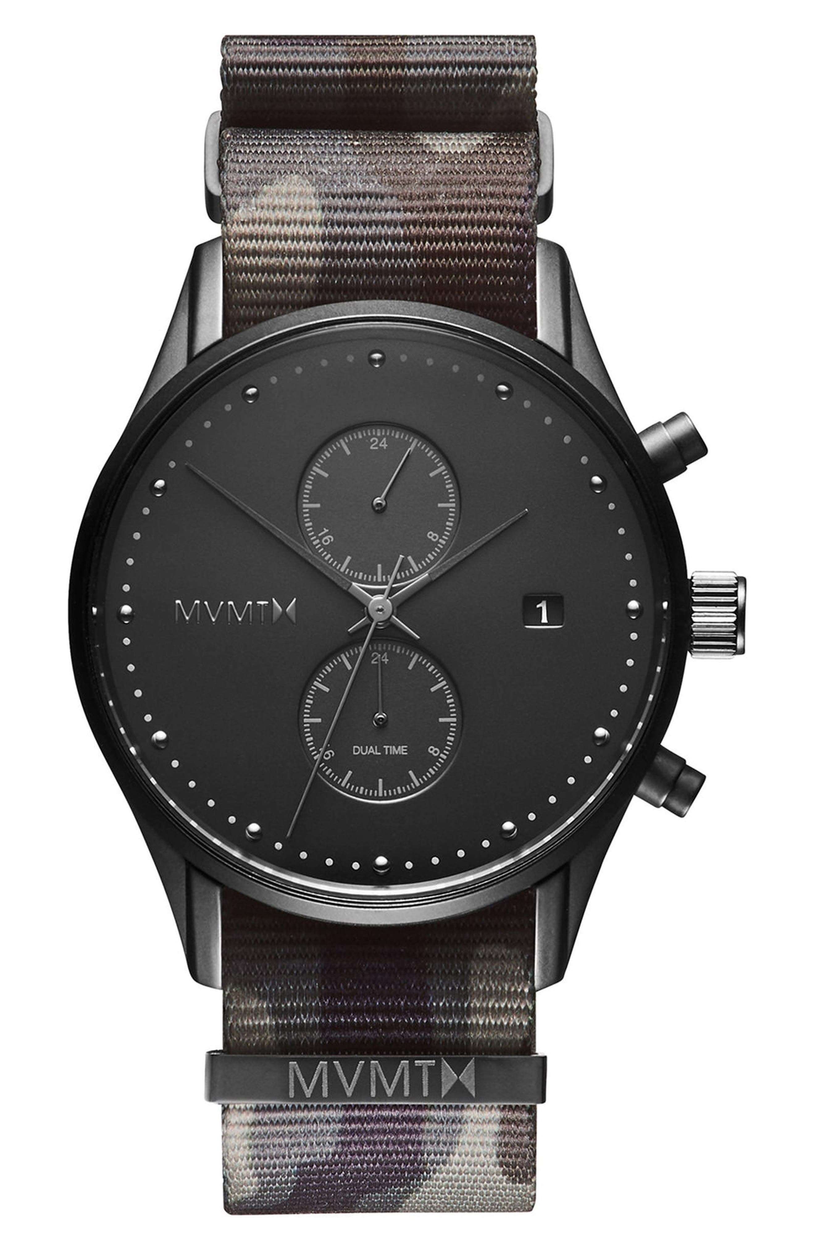 Voyager Chronograph NATO Strap Watch, 42mm,                         Main,                         color, 300