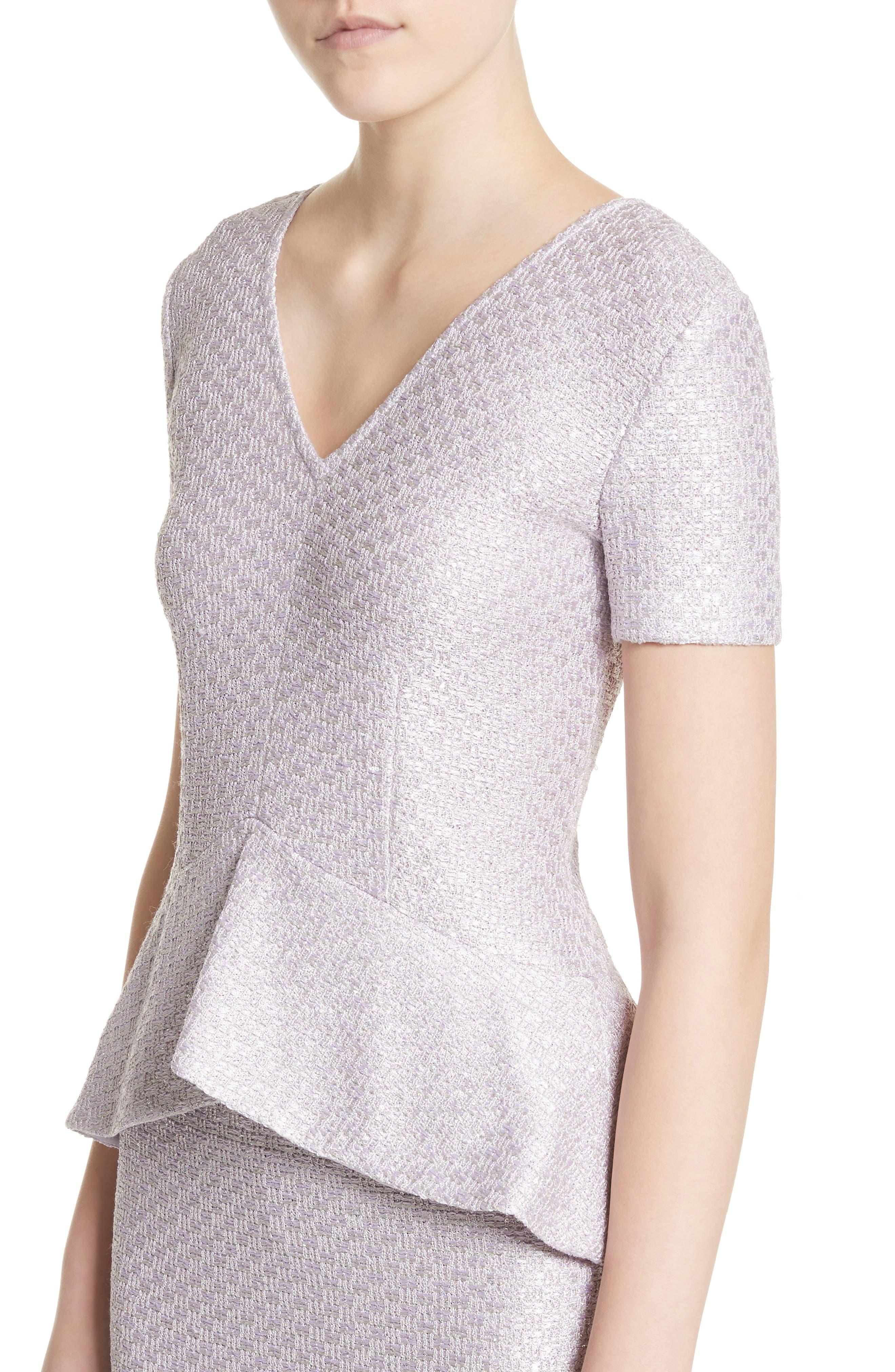 Hansh Sequin Knit Column Gown,                             Alternate thumbnail 4, color,                             530