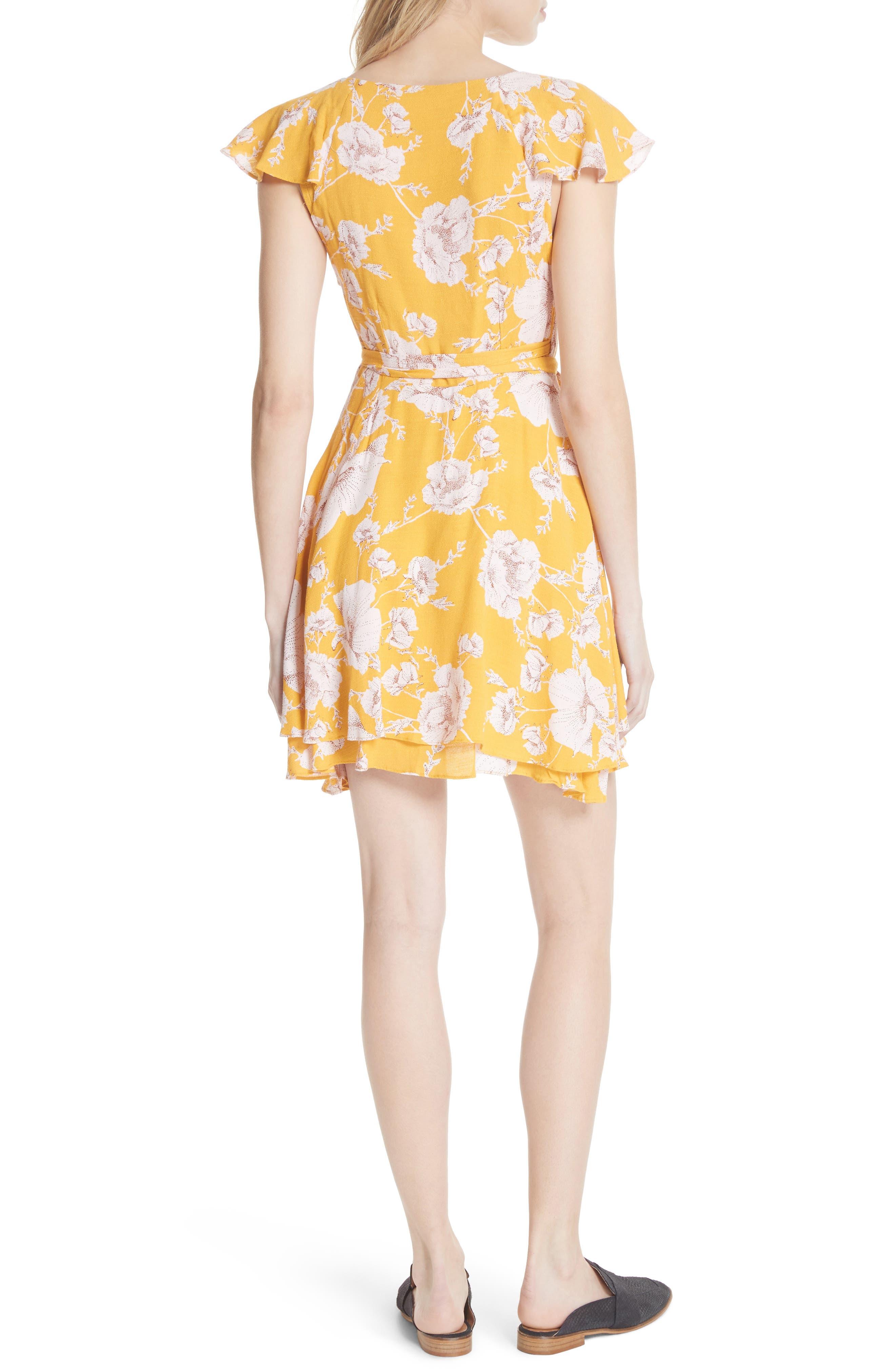 French Quarter Print Wrap Minidress,                             Alternate thumbnail 7, color,