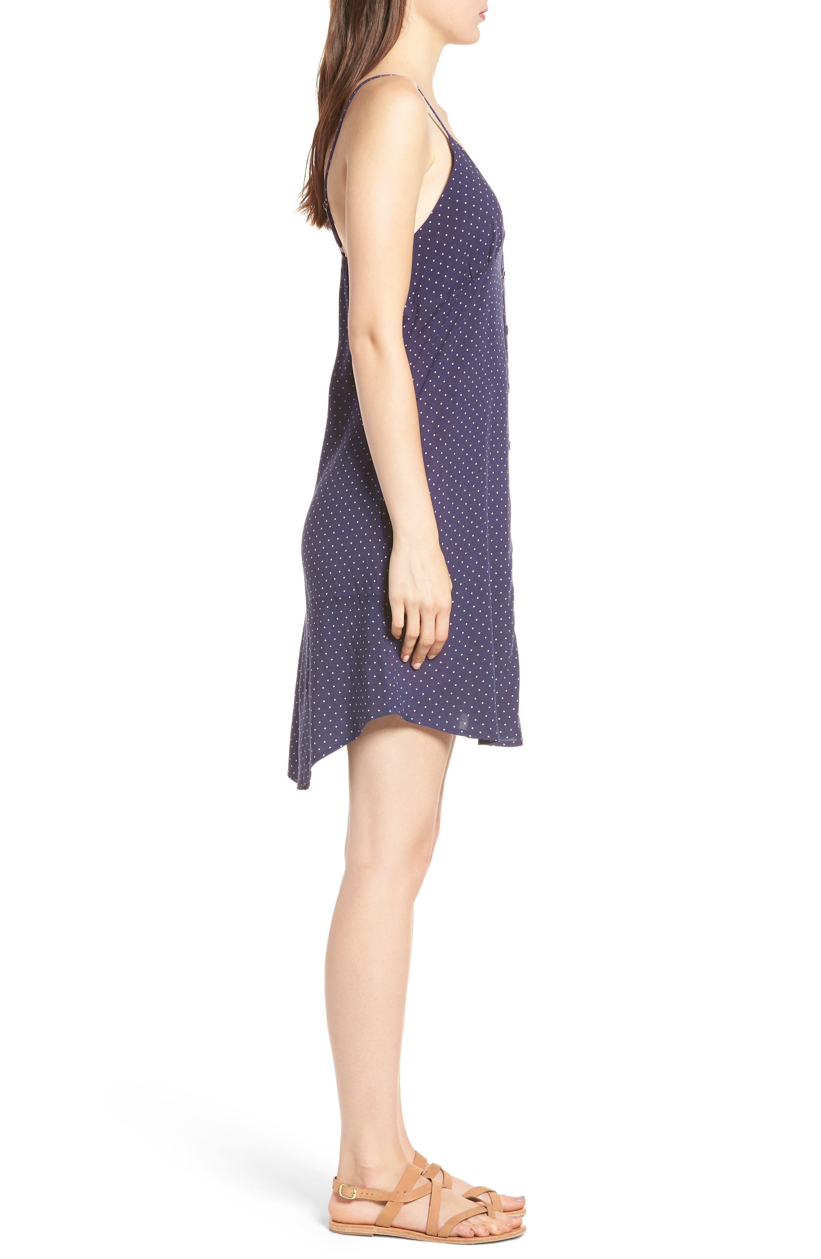 Button Front Dress,                             Alternate thumbnail 3, color,