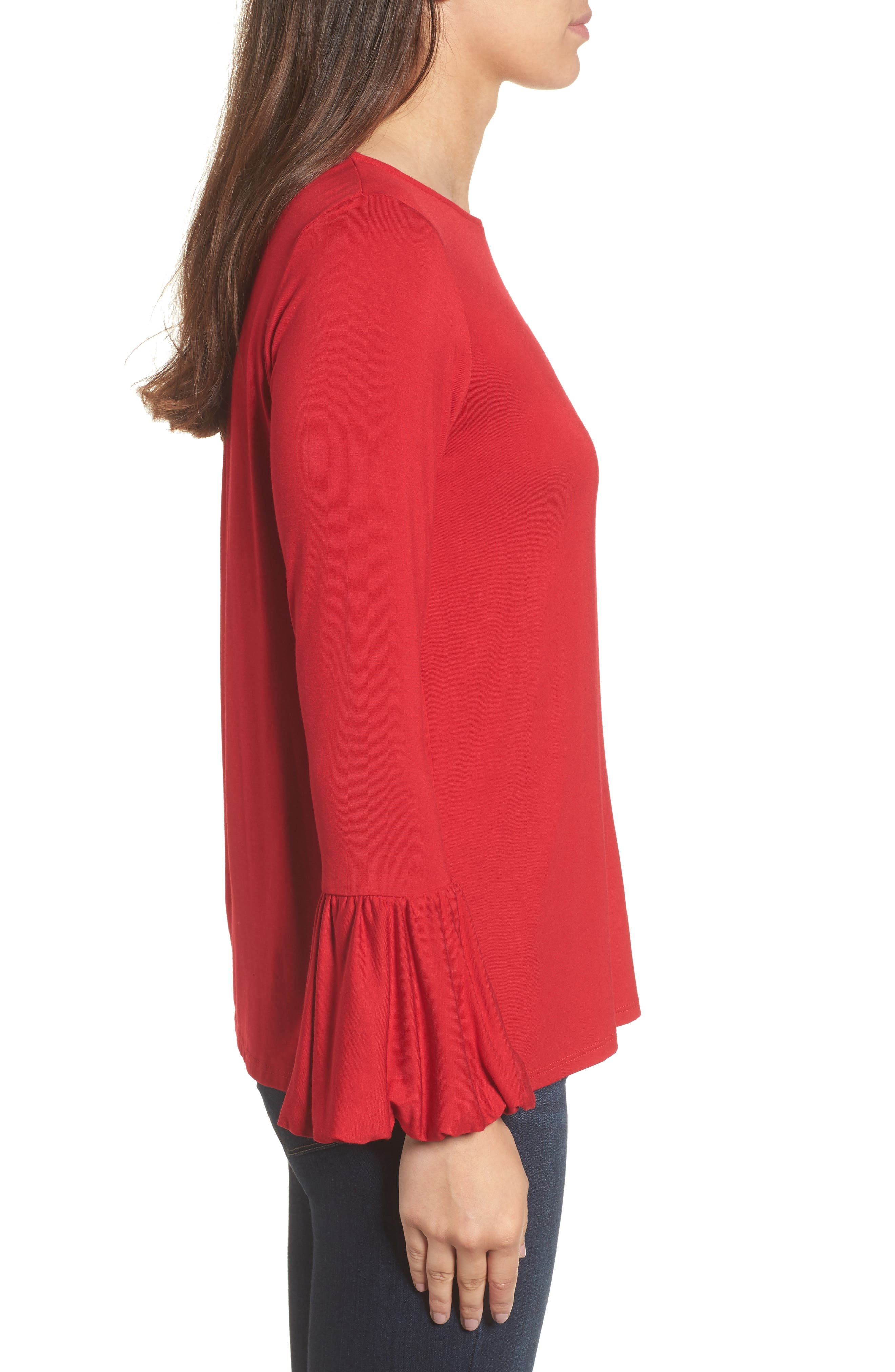 Bell Sleeve Top,                             Alternate thumbnail 13, color,