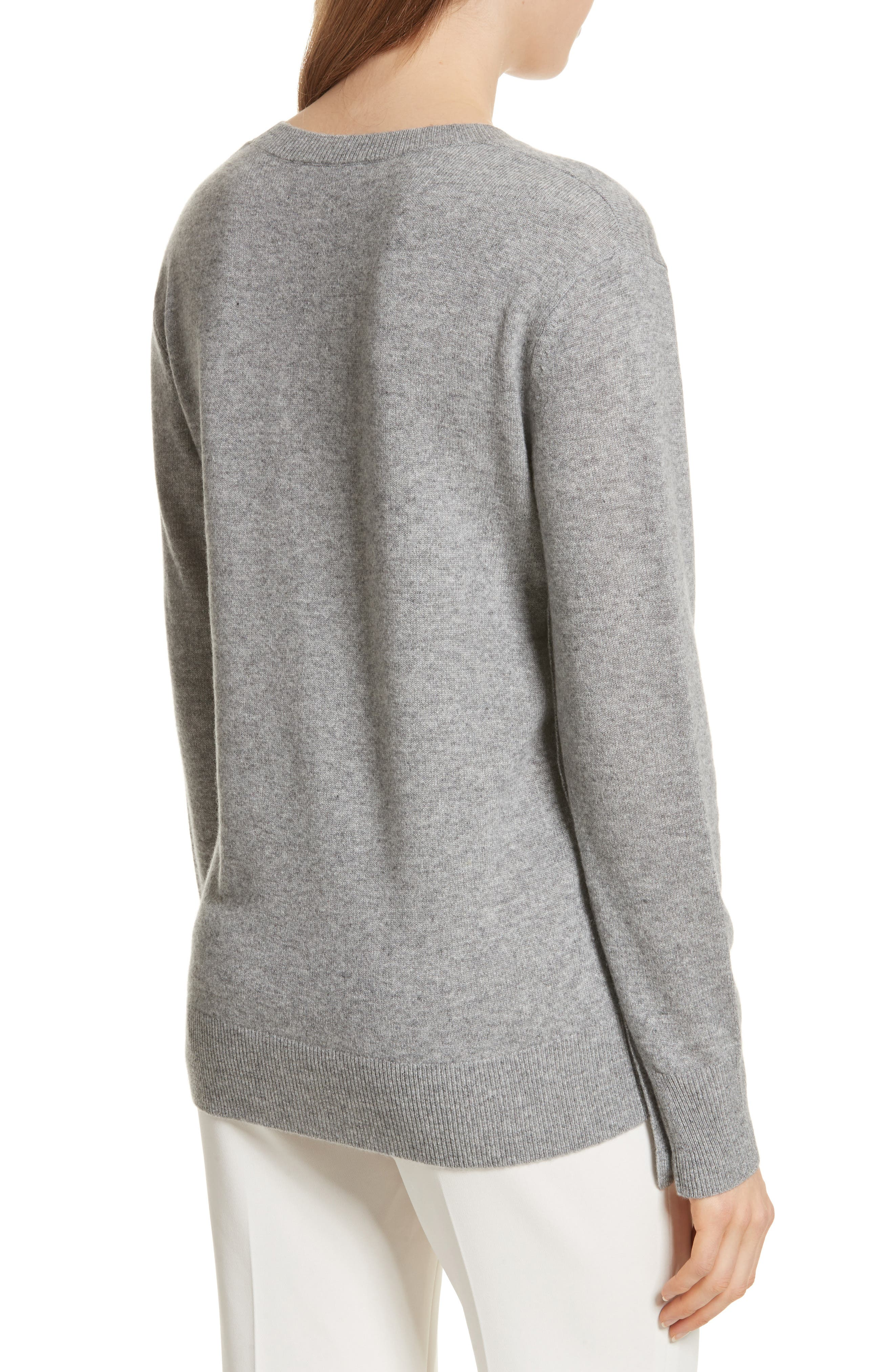 Button Sleeve Cashmere Sweater,                             Alternate thumbnail 3, color,