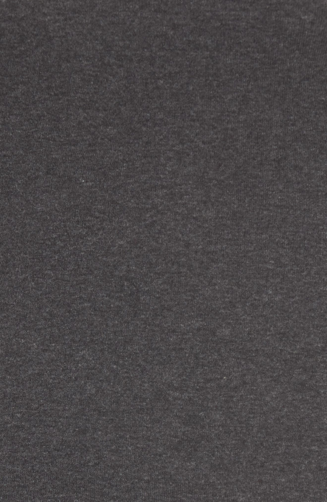 CASLON<SUP>®</SUP>,                             'Melody' Long Sleeve Scoop Neck Tee,                             Alternate thumbnail 5, color,                             HEATHER CHARCOAL