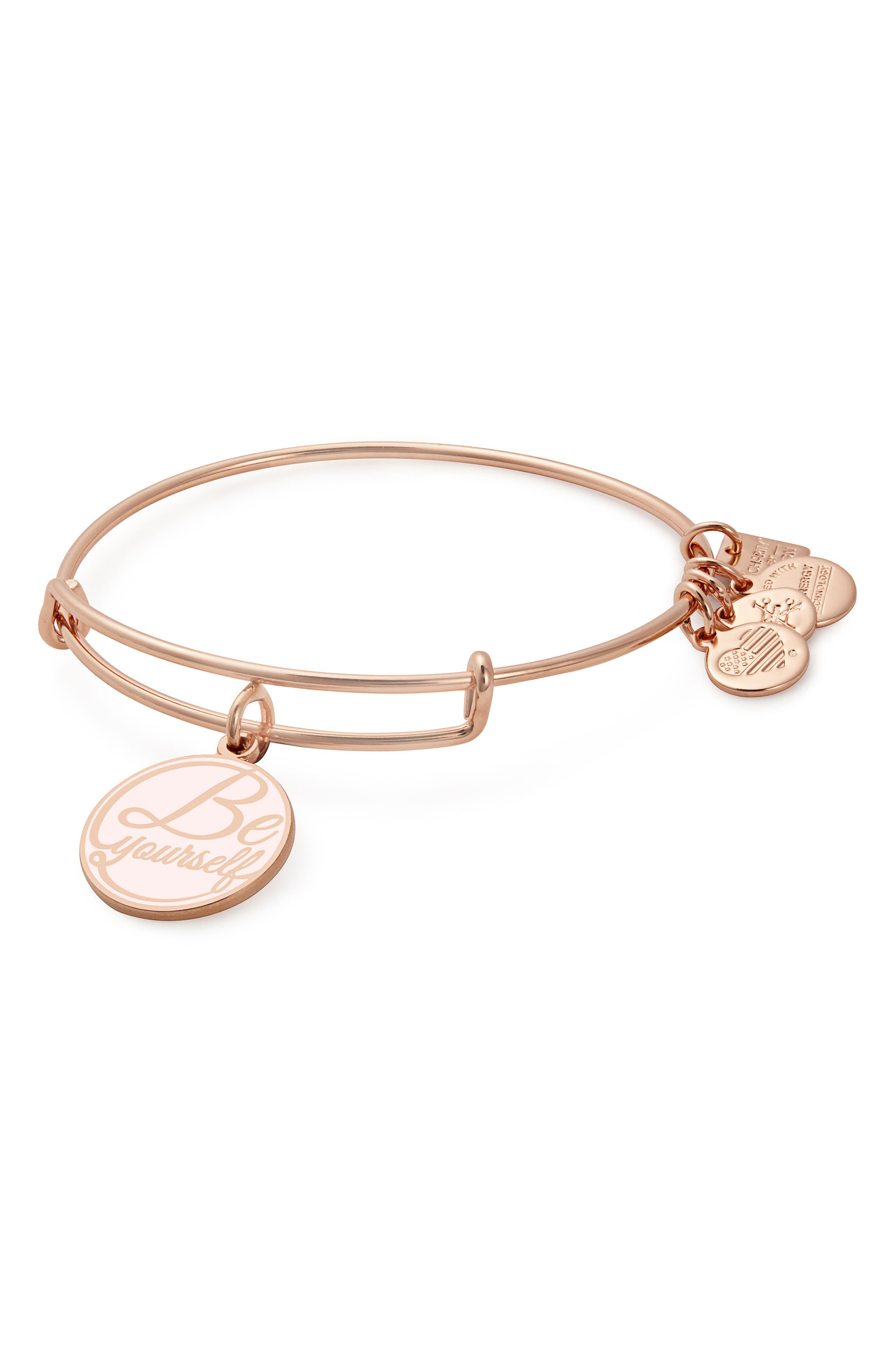 Kindred Cord Be Yourself Bangle,                             Main thumbnail 1, color,                             ROSE GOLD