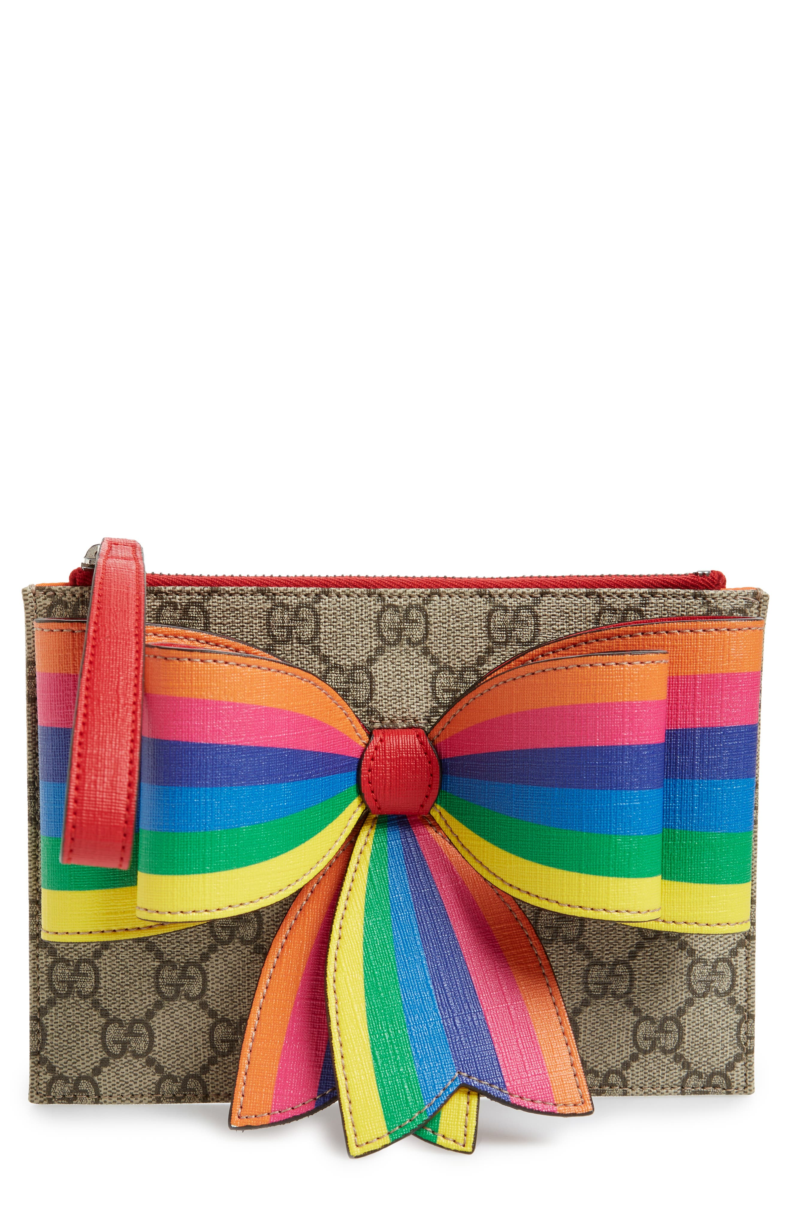 Borsa Bow Wristlet,                         Main,                         color, 283