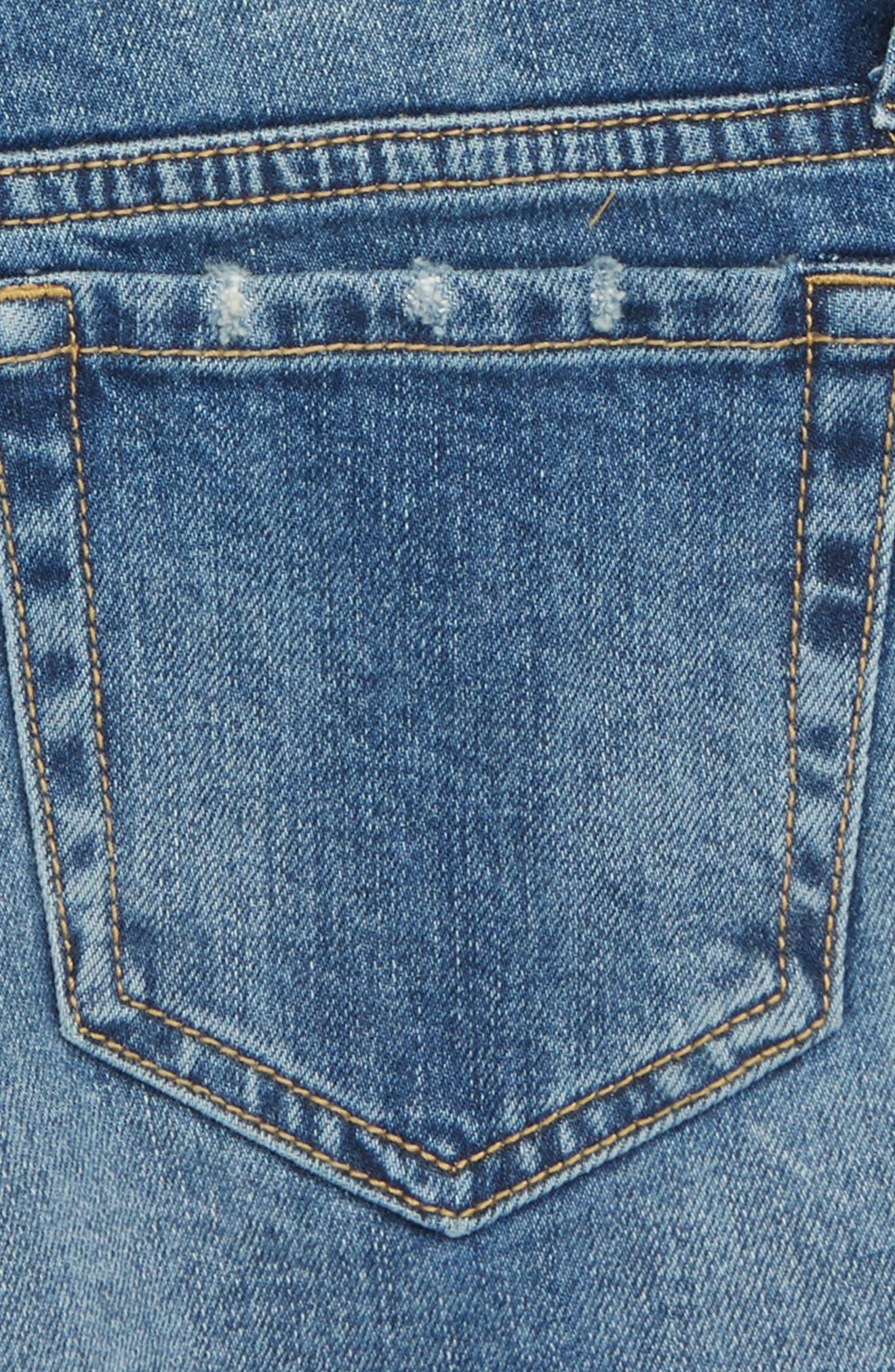Festival Distressed Cutoff Denim Shorts,                             Alternate thumbnail 3, color,